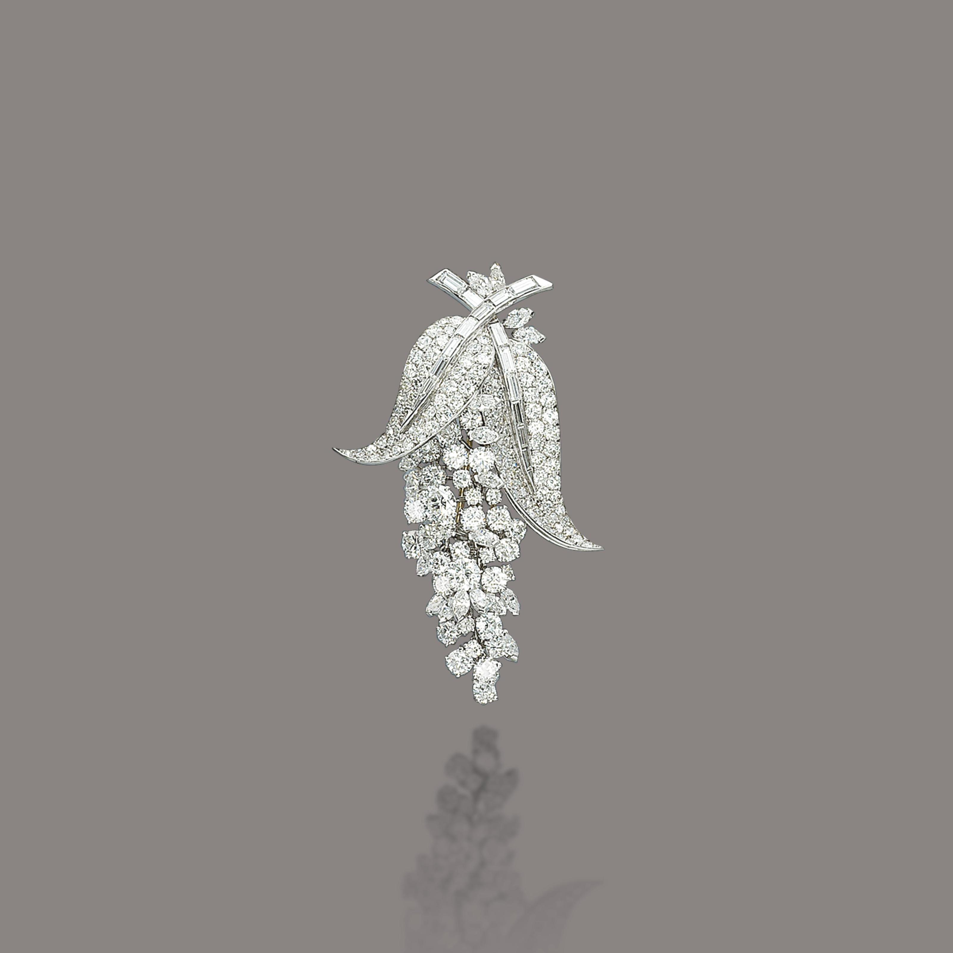 A DIAMOND BROOCH, BY MARCHAK