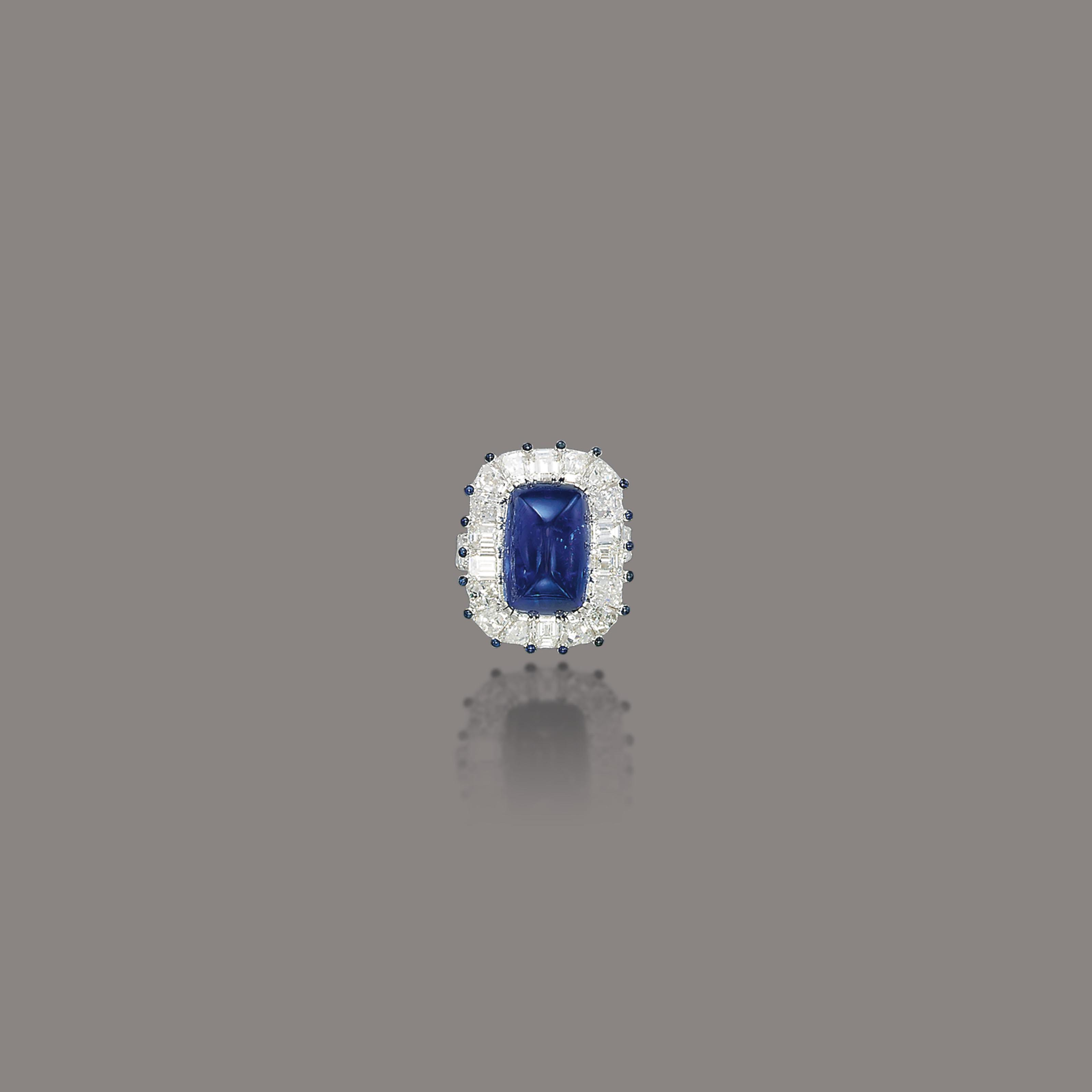A SAPPHIRE AND DIAMOND RING, BY MOUAWAD
