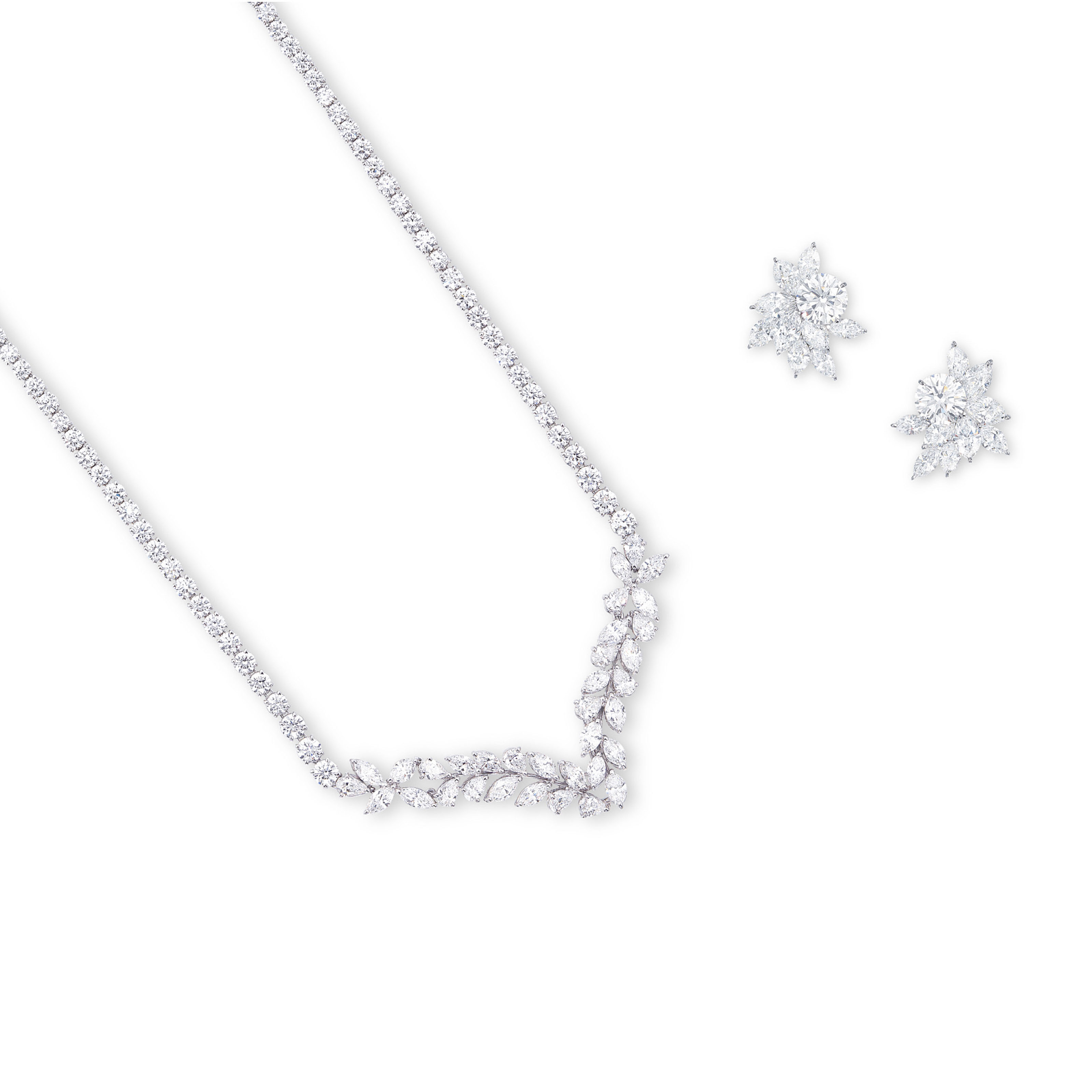 A SUITE OF DIAMOND JEWELLERY, BY MIKIMOTO