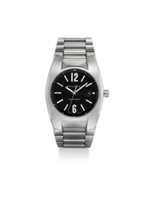 BVLGARI. A LARGE STAINLESS STE