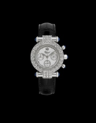 CHOPARD. A LADY'S 18K WHITE GO