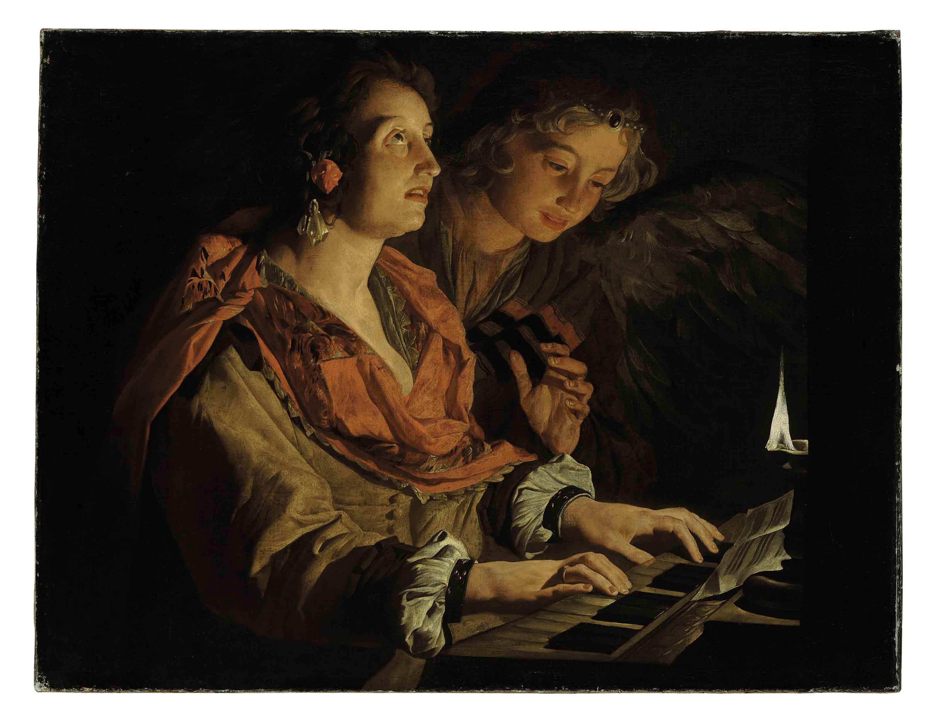 Saint Cecilia and the Angel