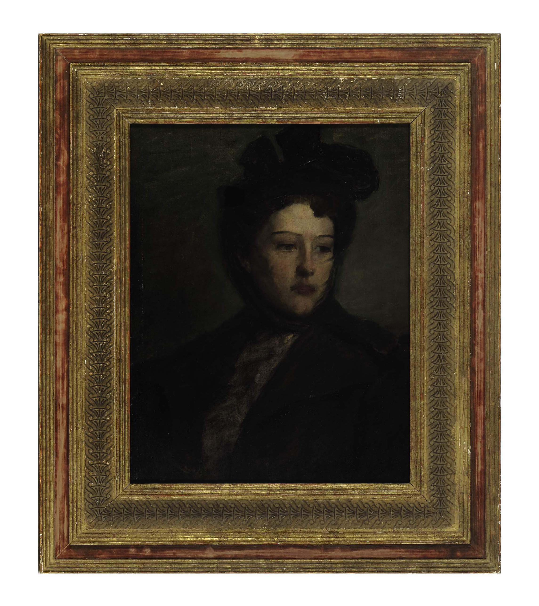 Portrait of a lady wearing a hat