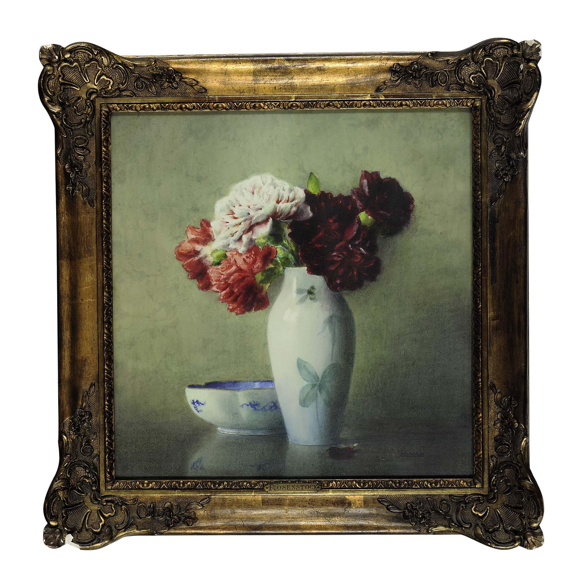 Peonies in a porcelain vase