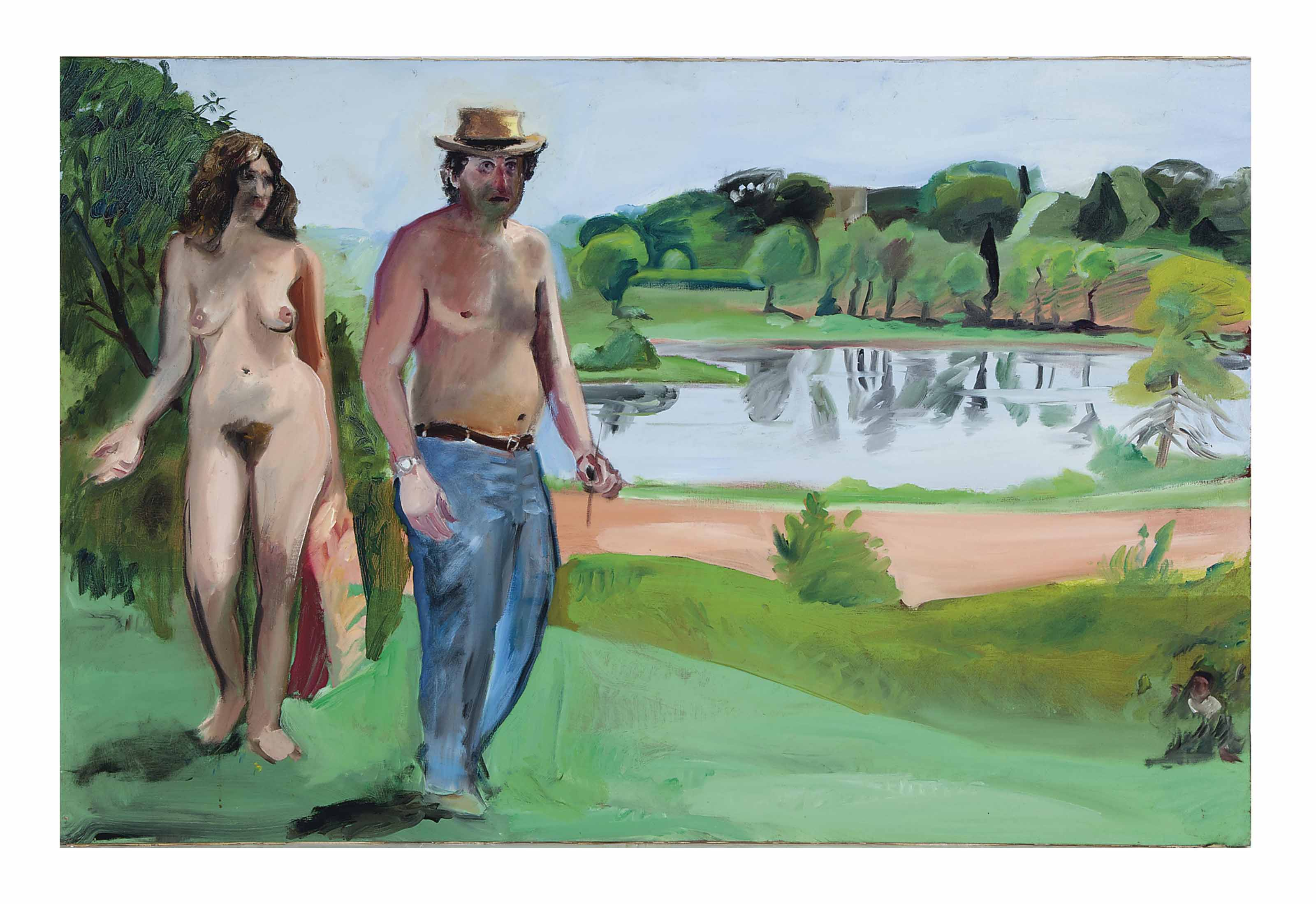 Untitled (Couple by a river)