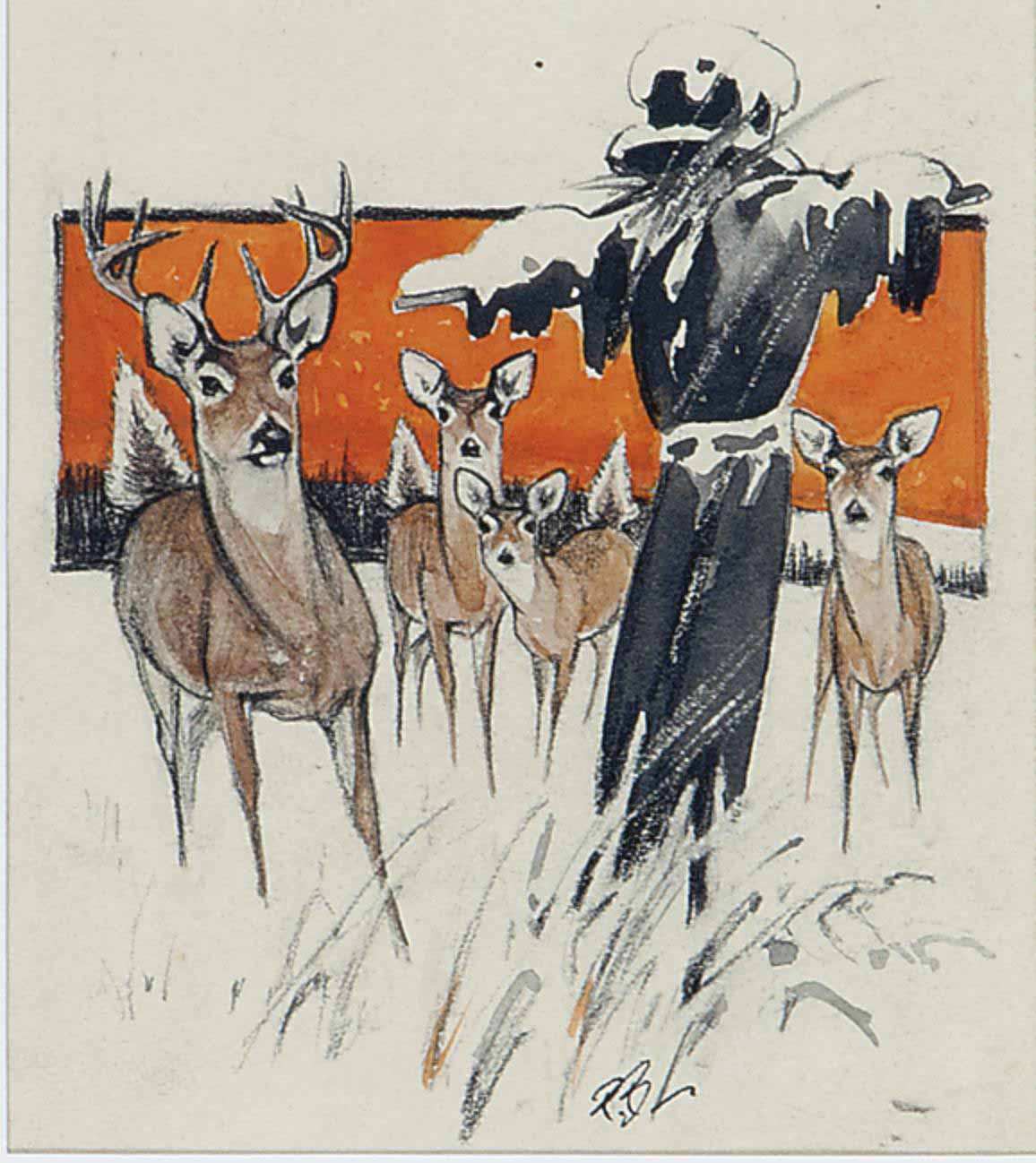 Scarecrow and Deer