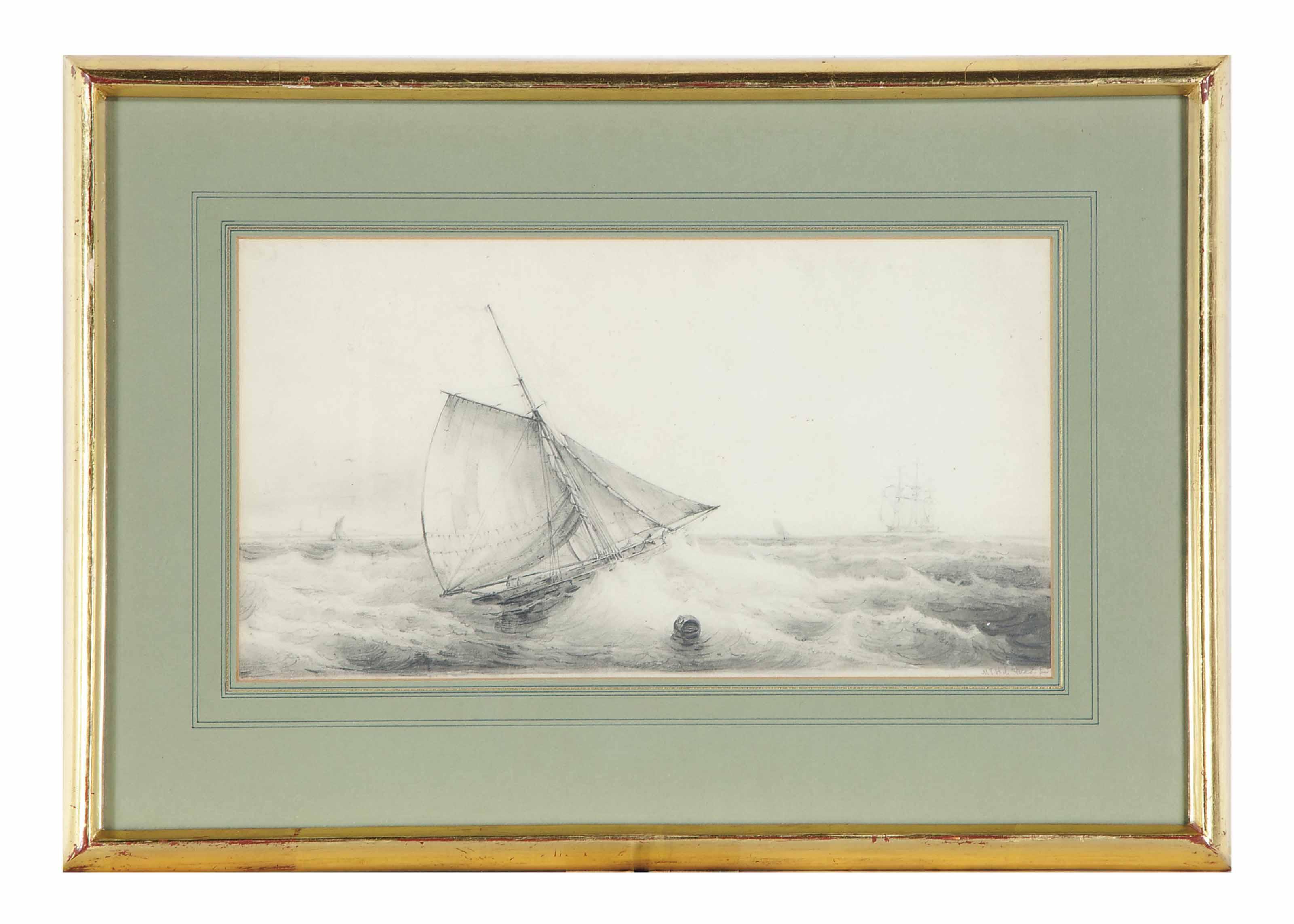 A boat in rough seas