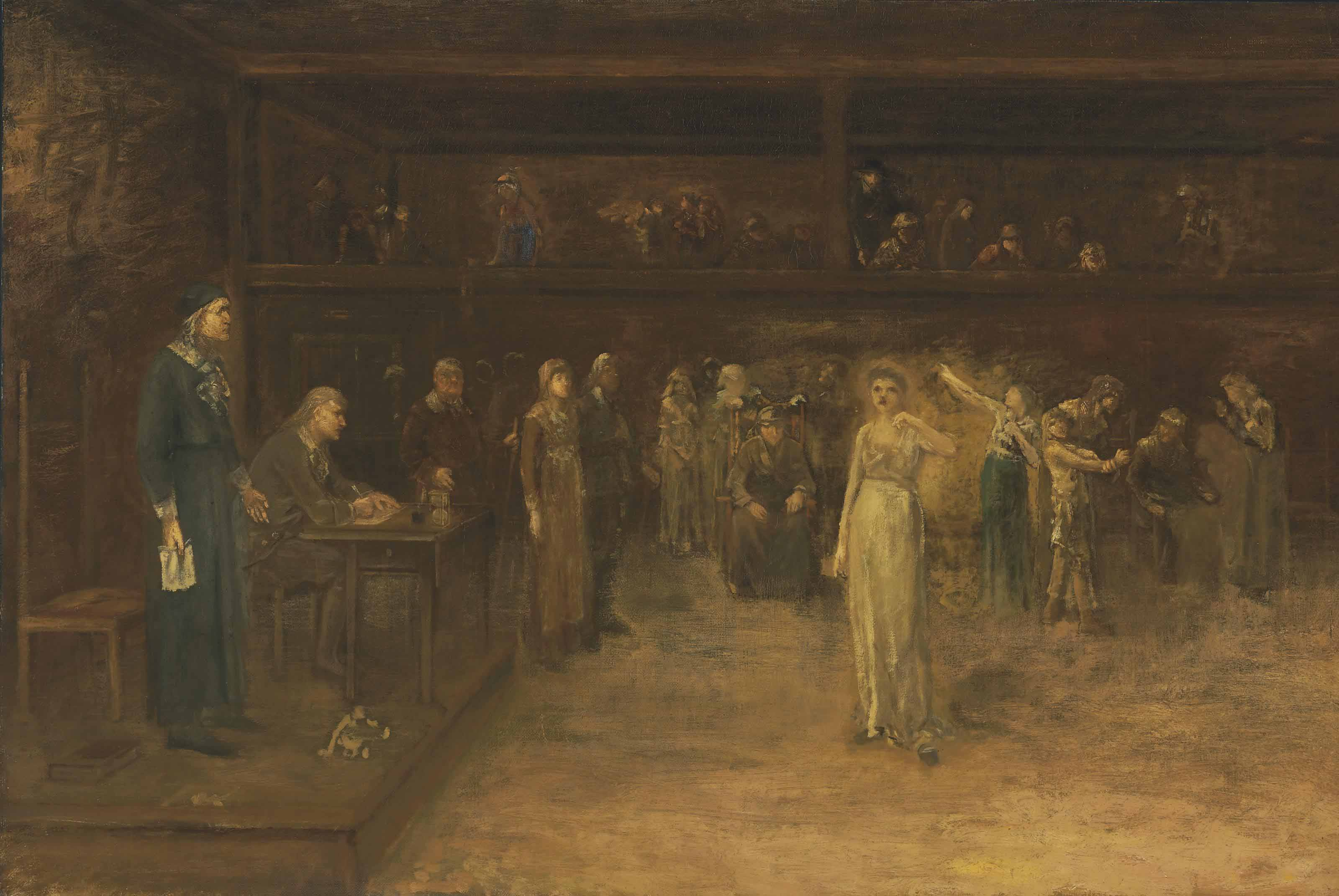 An Examination of Witnesses in a Trial for Witchcraft