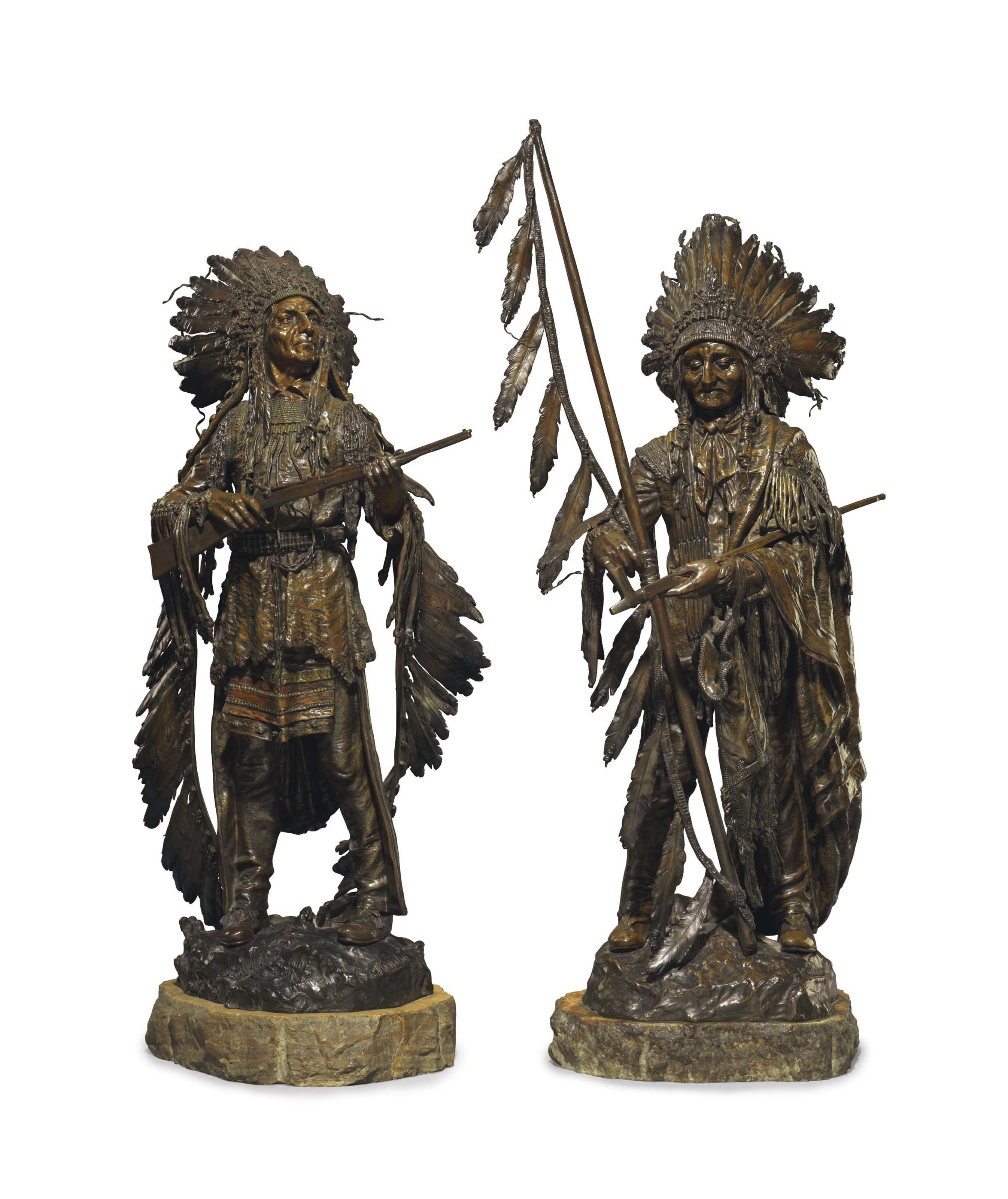 War and Peace: A Pair of Bronzes