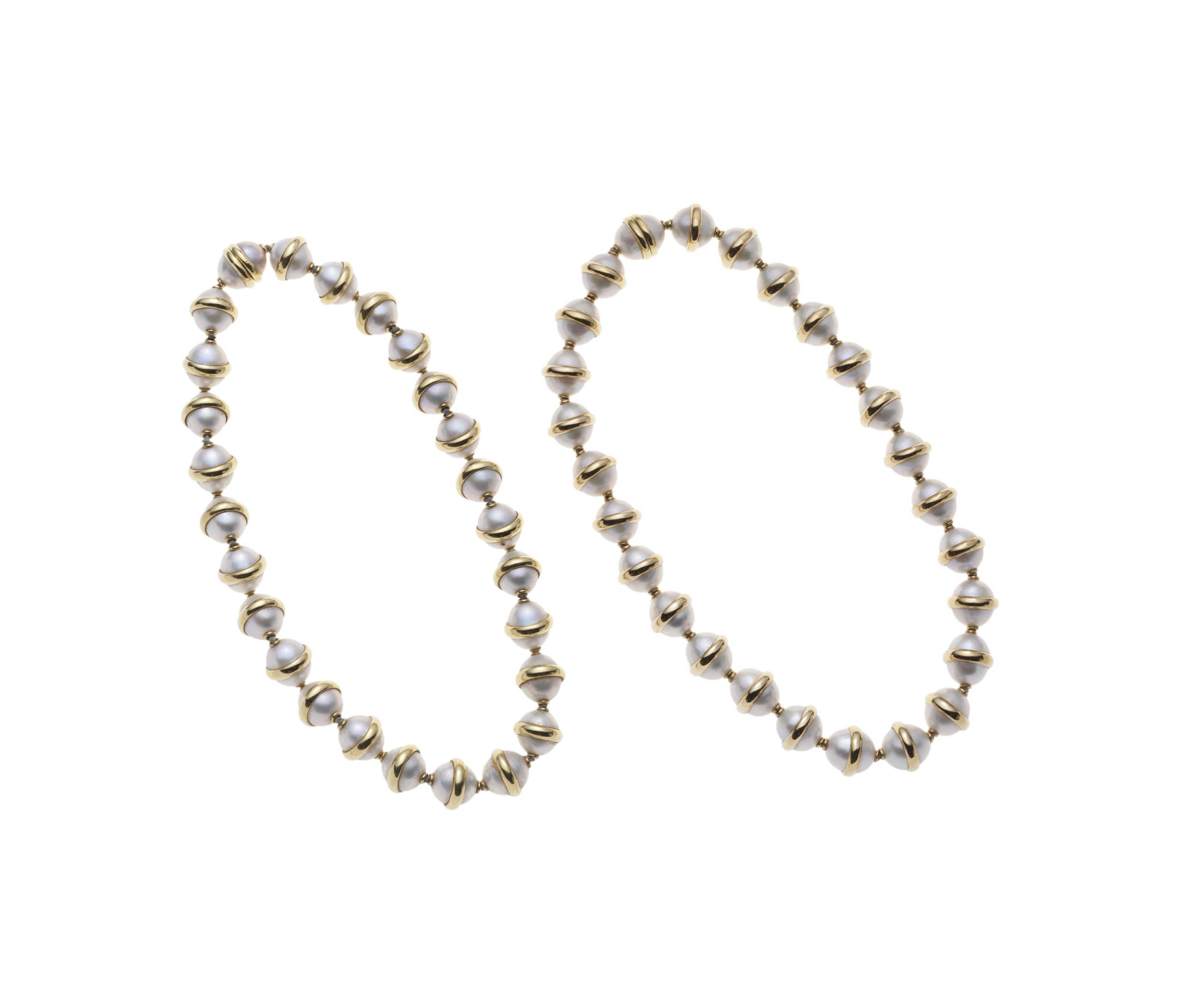 A PAIR OF CULTURED PEARL NECKLACES, BY PALOMA PICASSO, TIFFANY & CO.