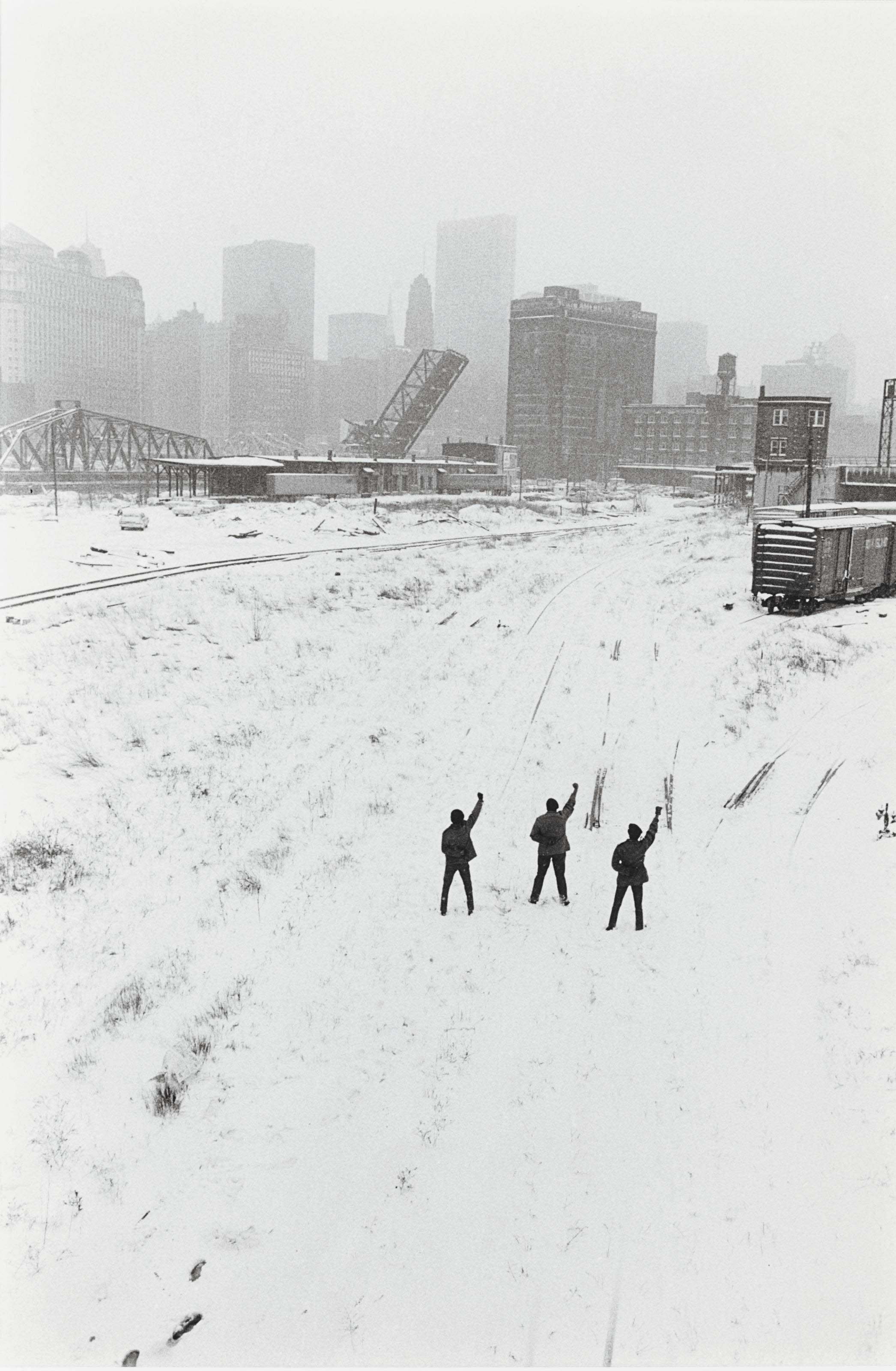 Black Panthers in Chicago Railyard, 1968