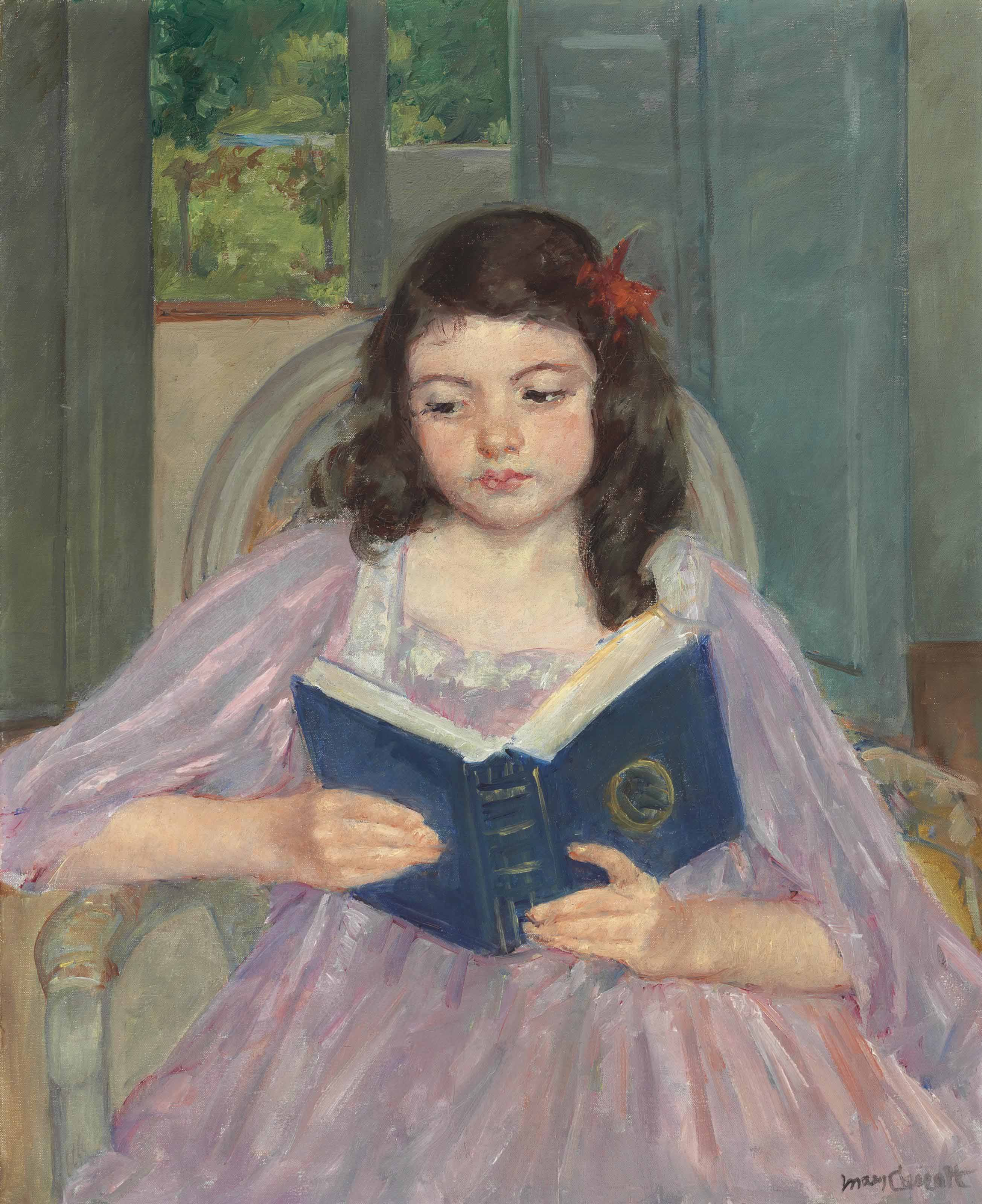 Françoise in a Round-Backed Chair, Reading