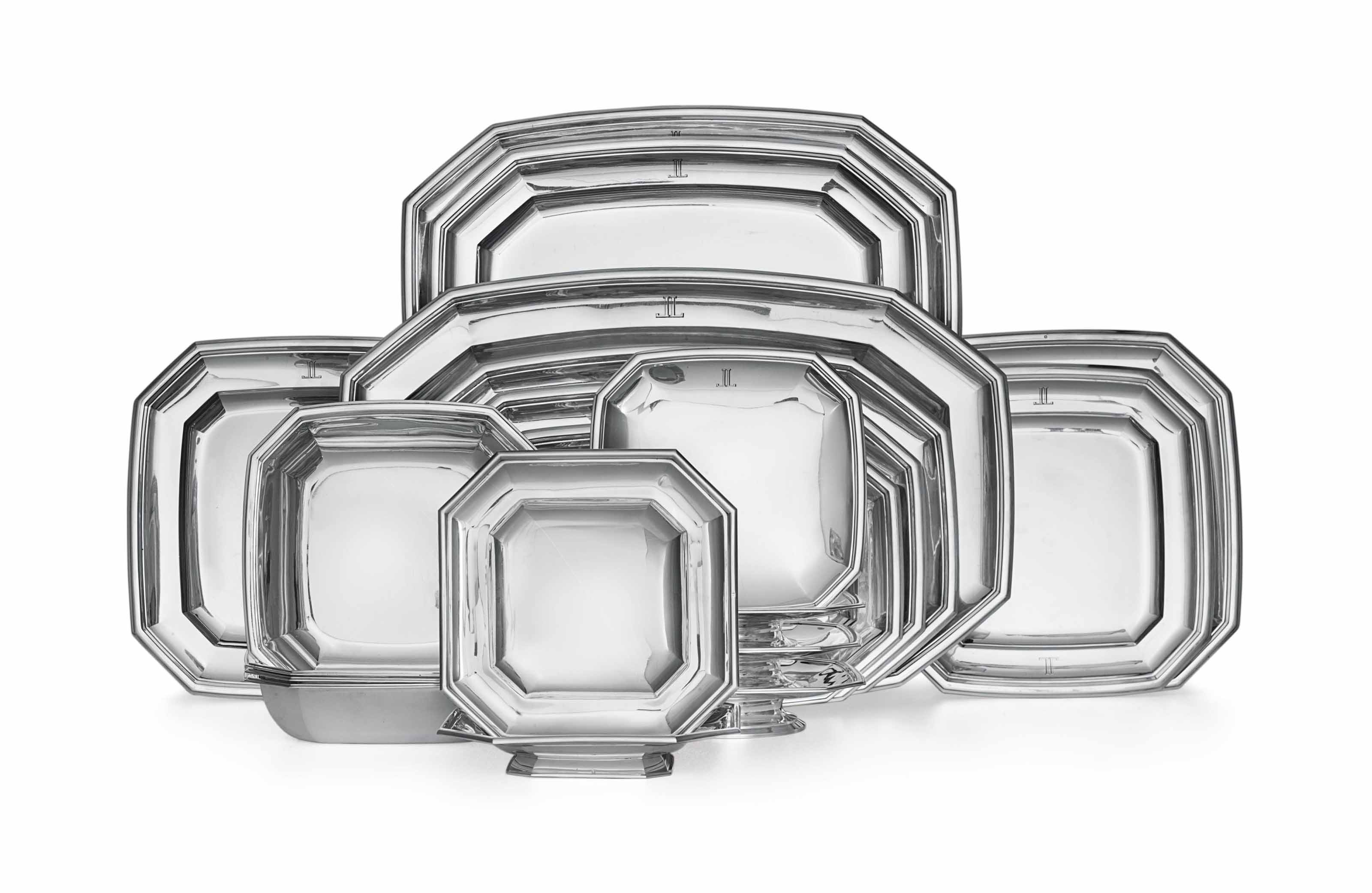A FRENCH SILVER PART DINNER SERVICE