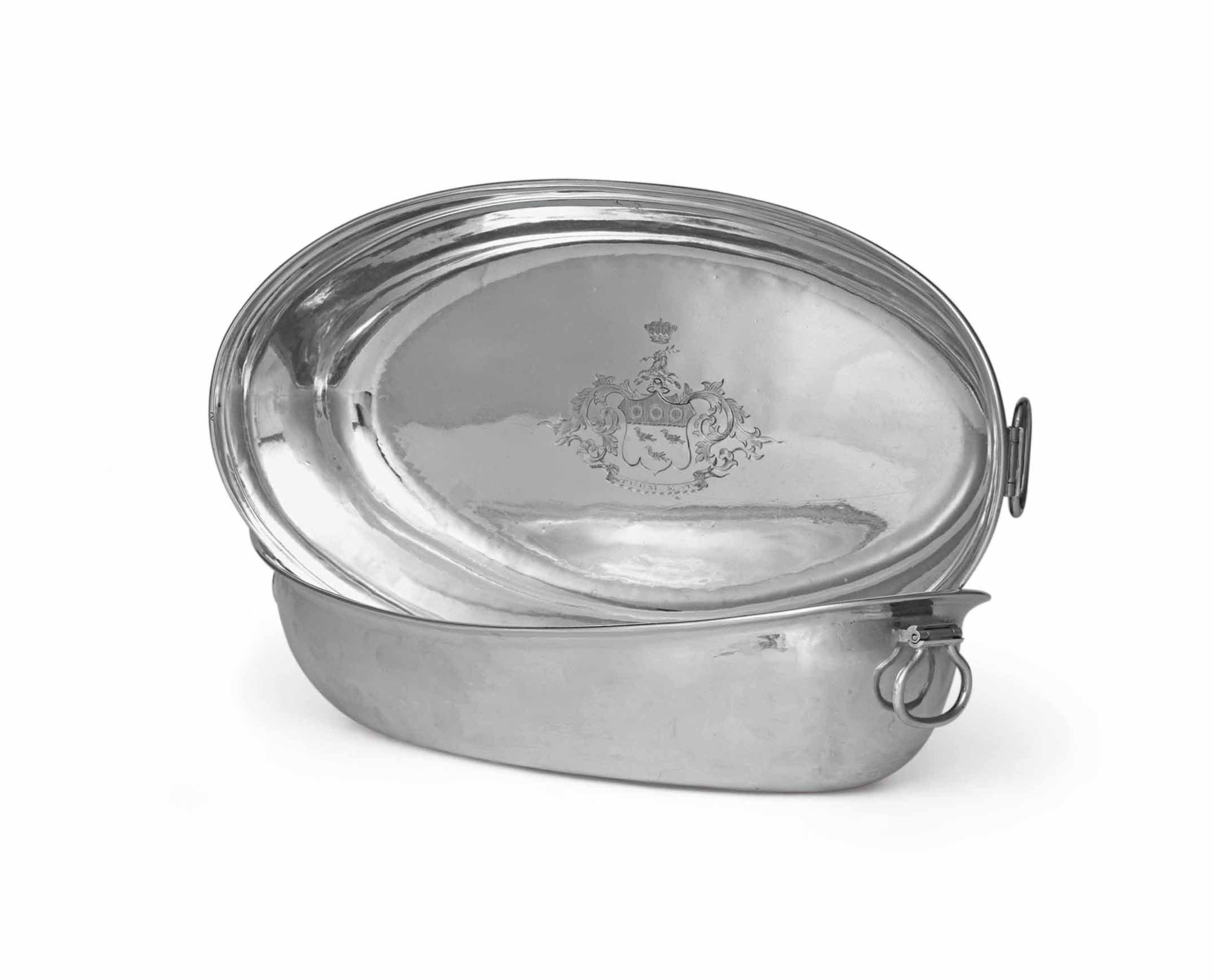 A PAIR OF REGENCY SILVER TUREEN LINERS
