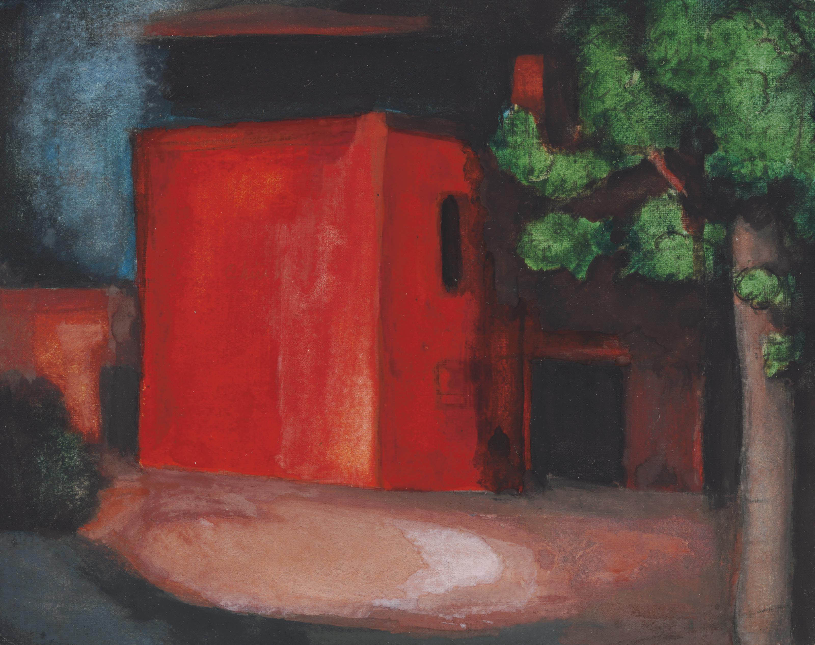 Study for 'Red' (The Barn Petersville on Mahanoy, Pennsylvania)