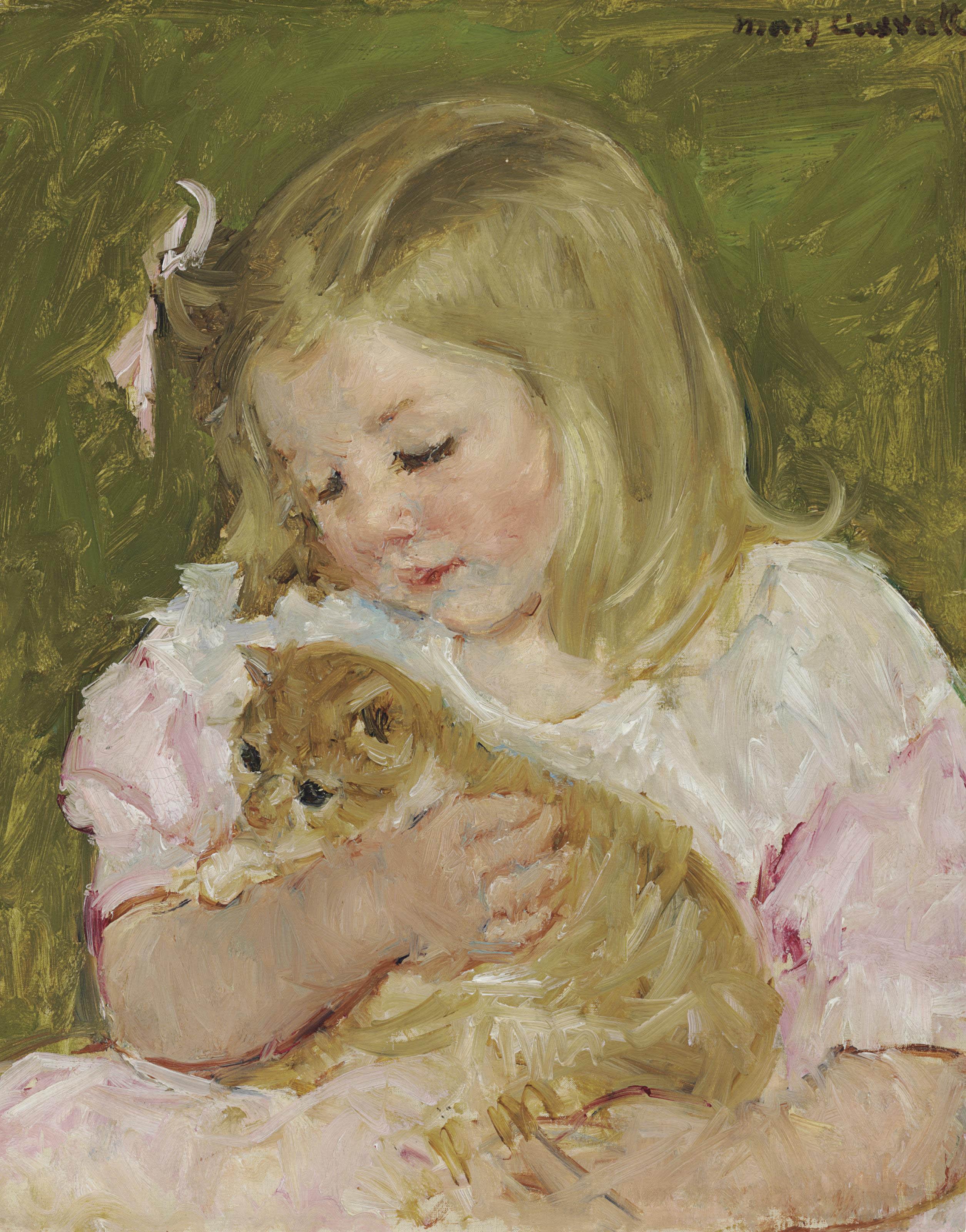 Sara Holding a Cat