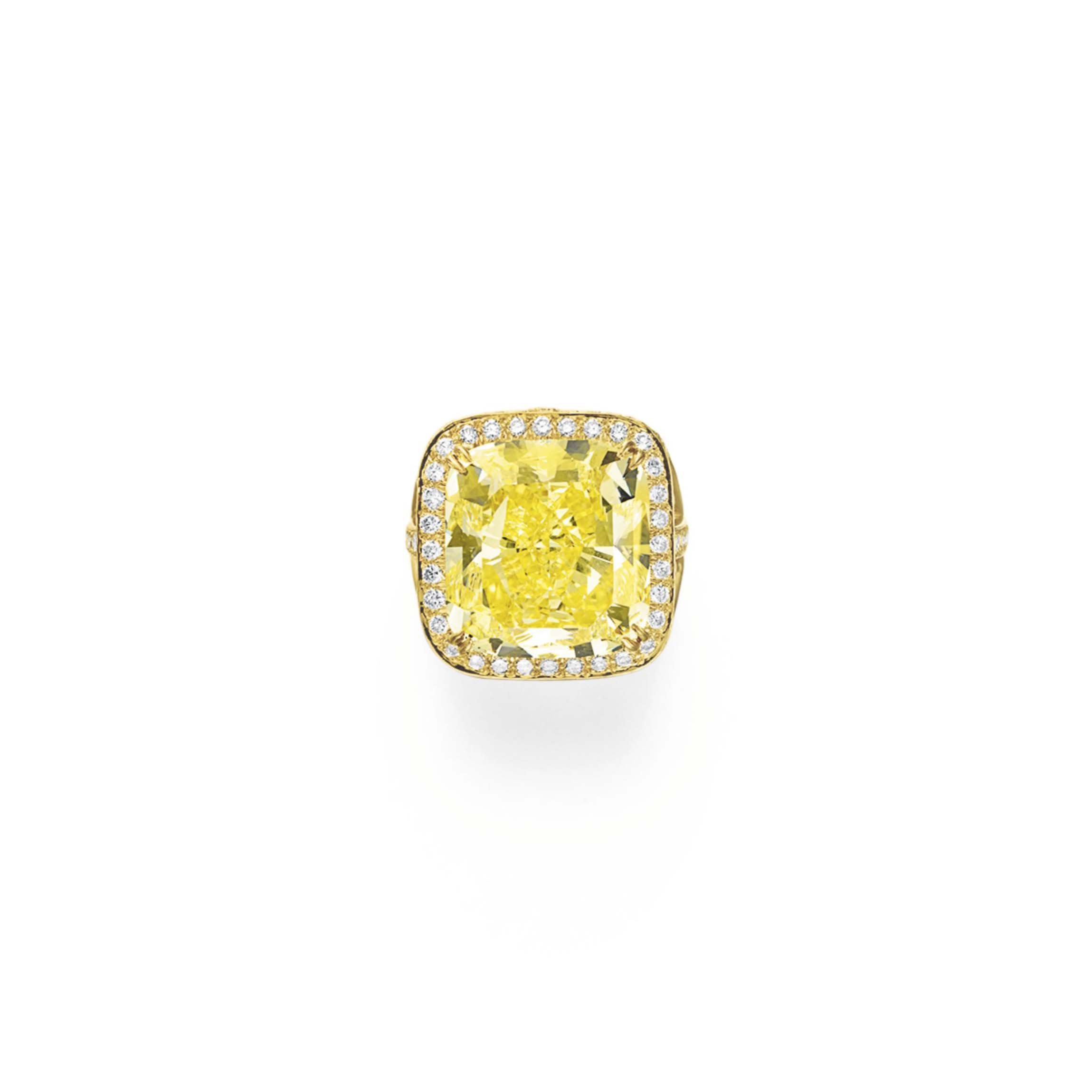 A COLORED DIAMOND RING, BY DAVID WEBB