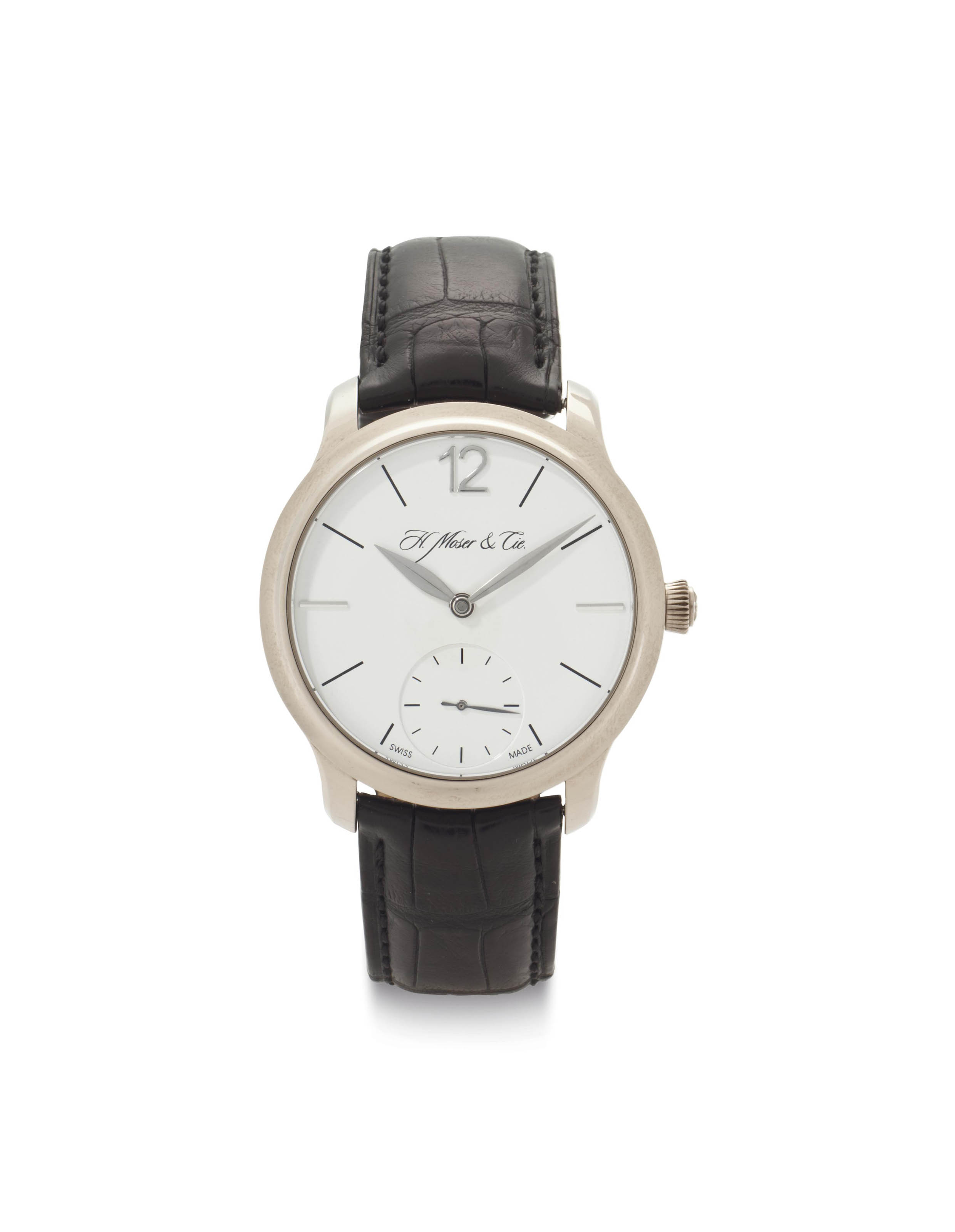 H. Moser & Cie. An 18k White Gold Limited Edition Wristwatch with Power Reserve