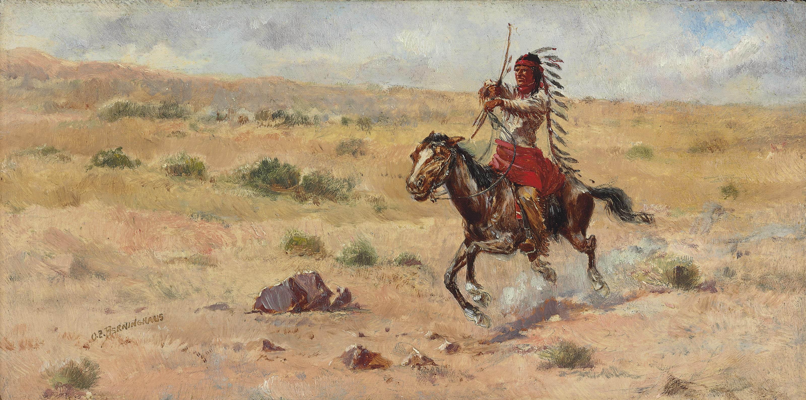 Indian Riding at Full Gallup