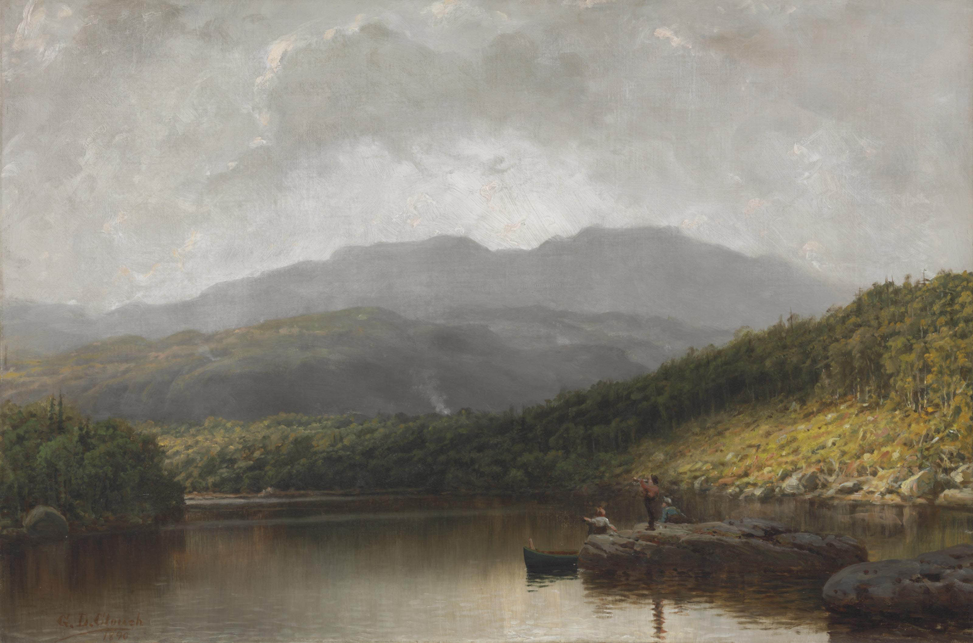 Lake Scene with Figures