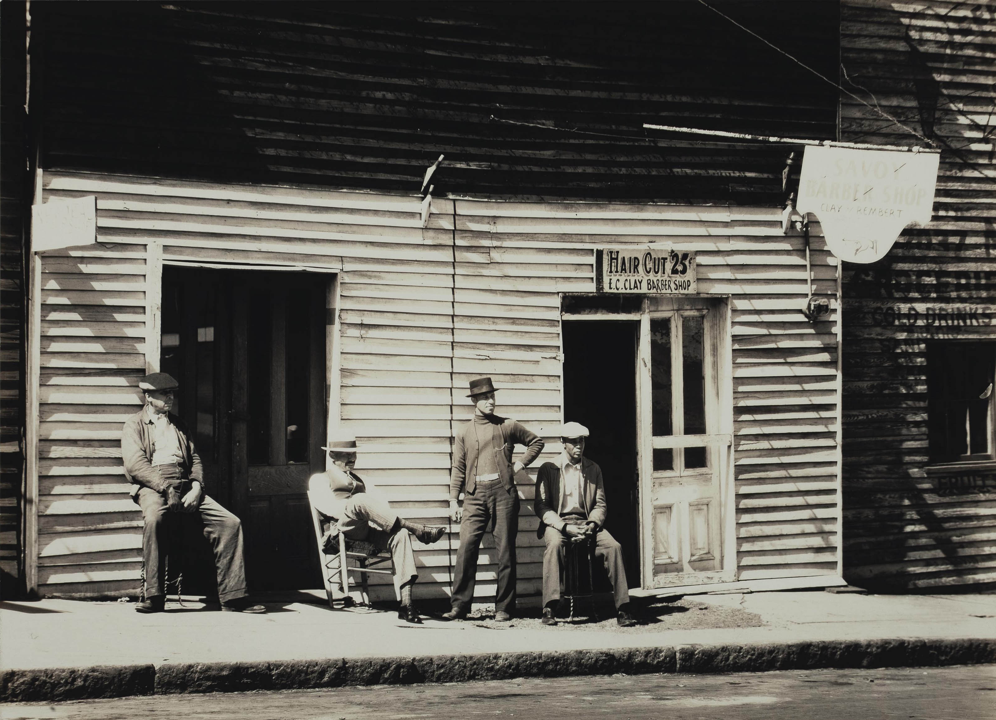 Barber's Shop, Southern Town, 1936