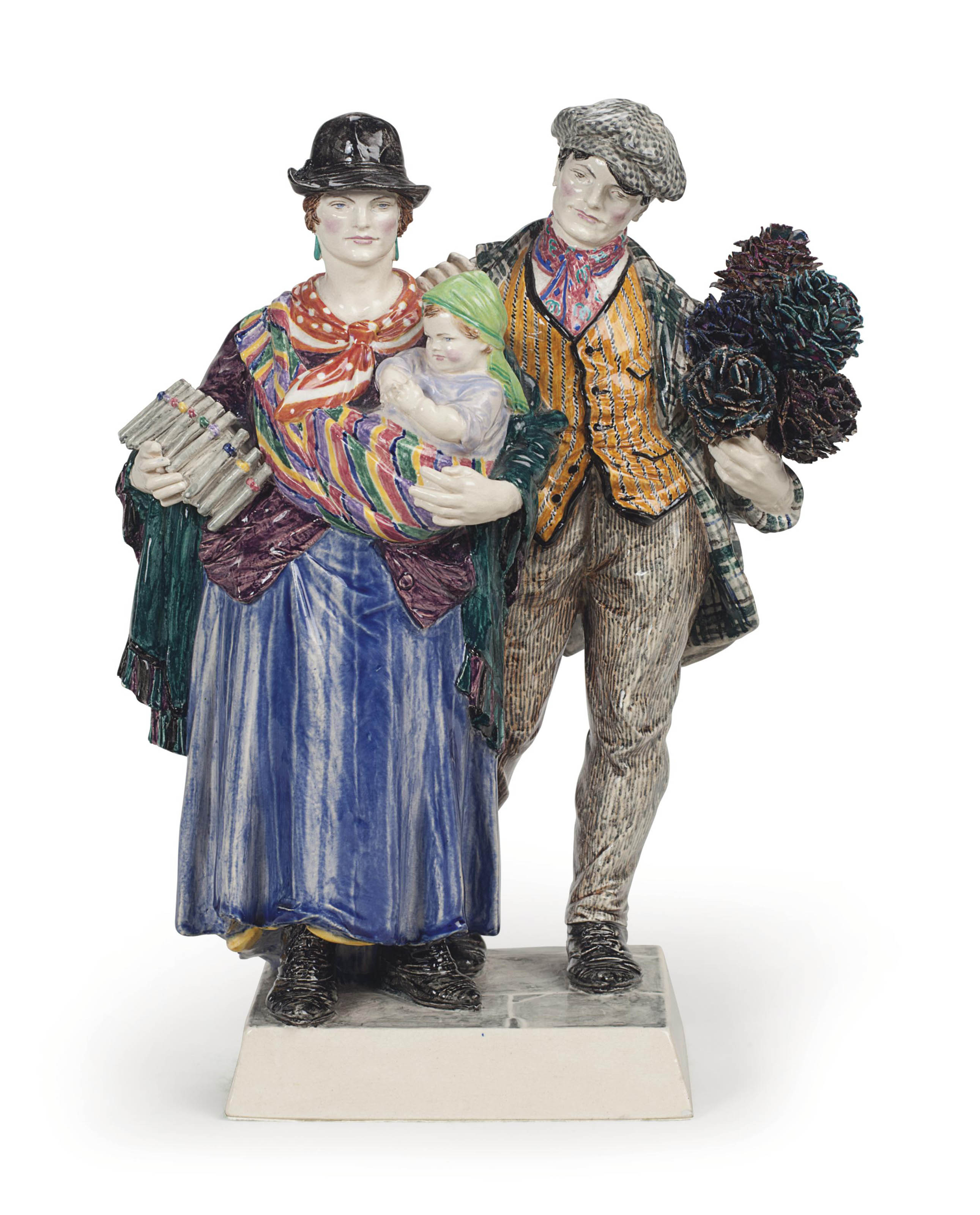 'THE GYPSIES', A POTTERY GROUP BY CHARLES VYSE