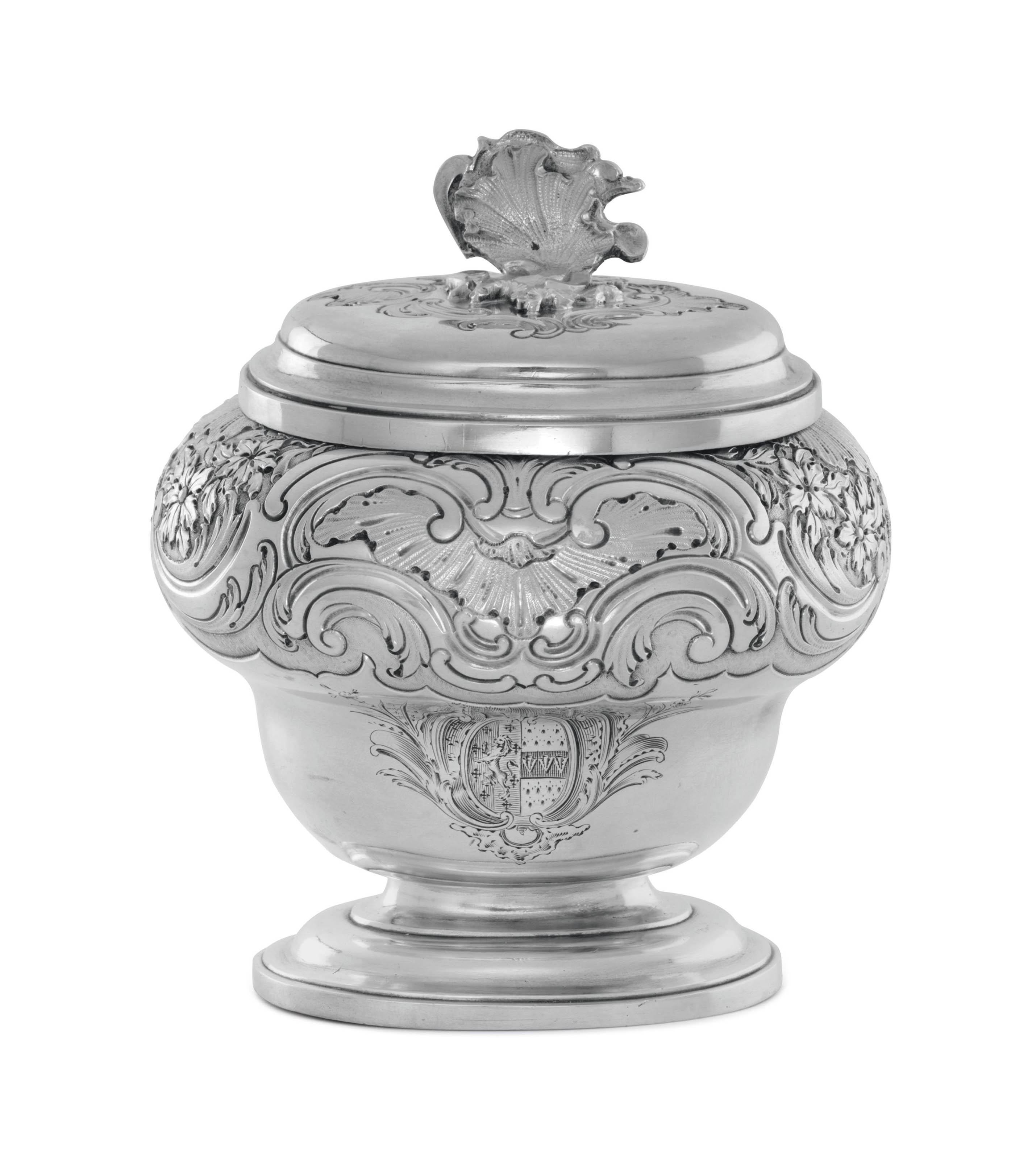 A GEORGE II SILVER SUGAR BOWL