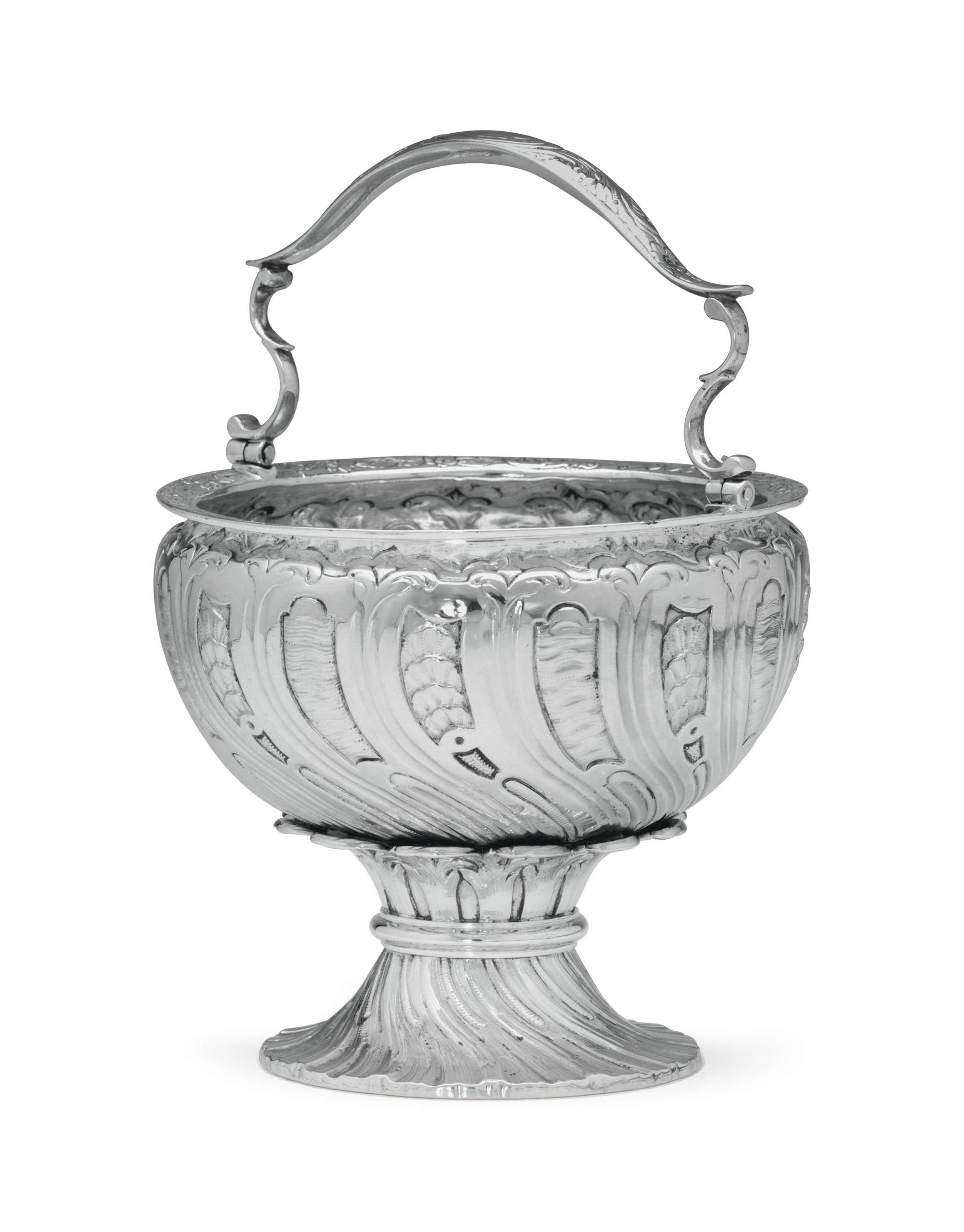 A GEORGE II SILVER HOLY WATER BUCKET
