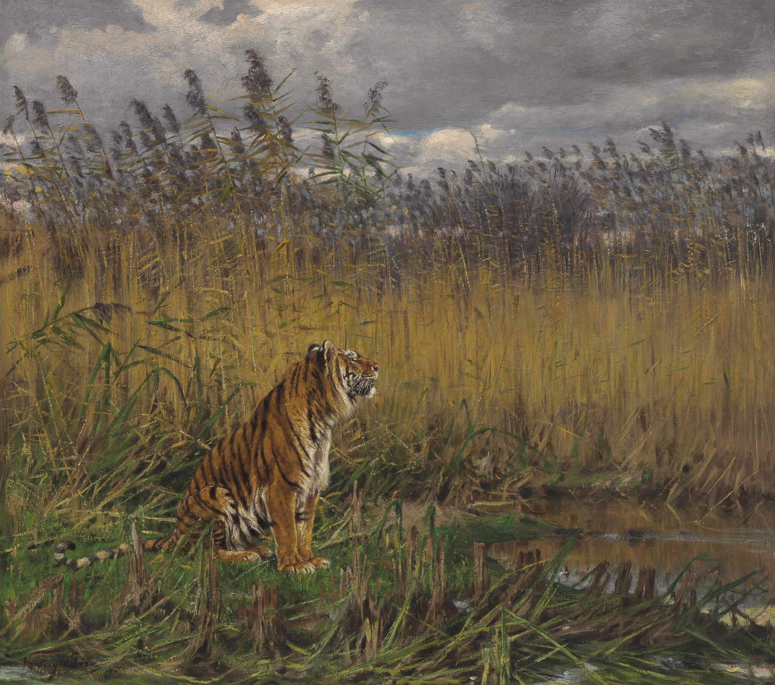 A Tiger in a Landscape