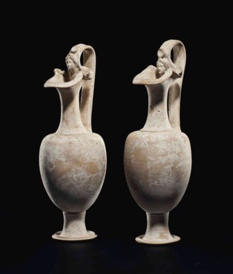A PAIR OF CANOSAN POTTERY OINO