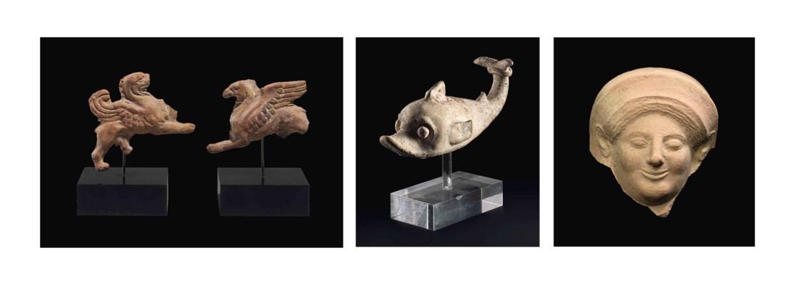 THREE GREEK TERRACOTTA ANIMALS