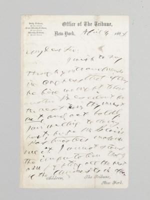abraham lincoln letter to horace greeley Abraham lincoln's letter to horace greeley: the sooner the national authority can be restored the nearer the union will be the union as it was.