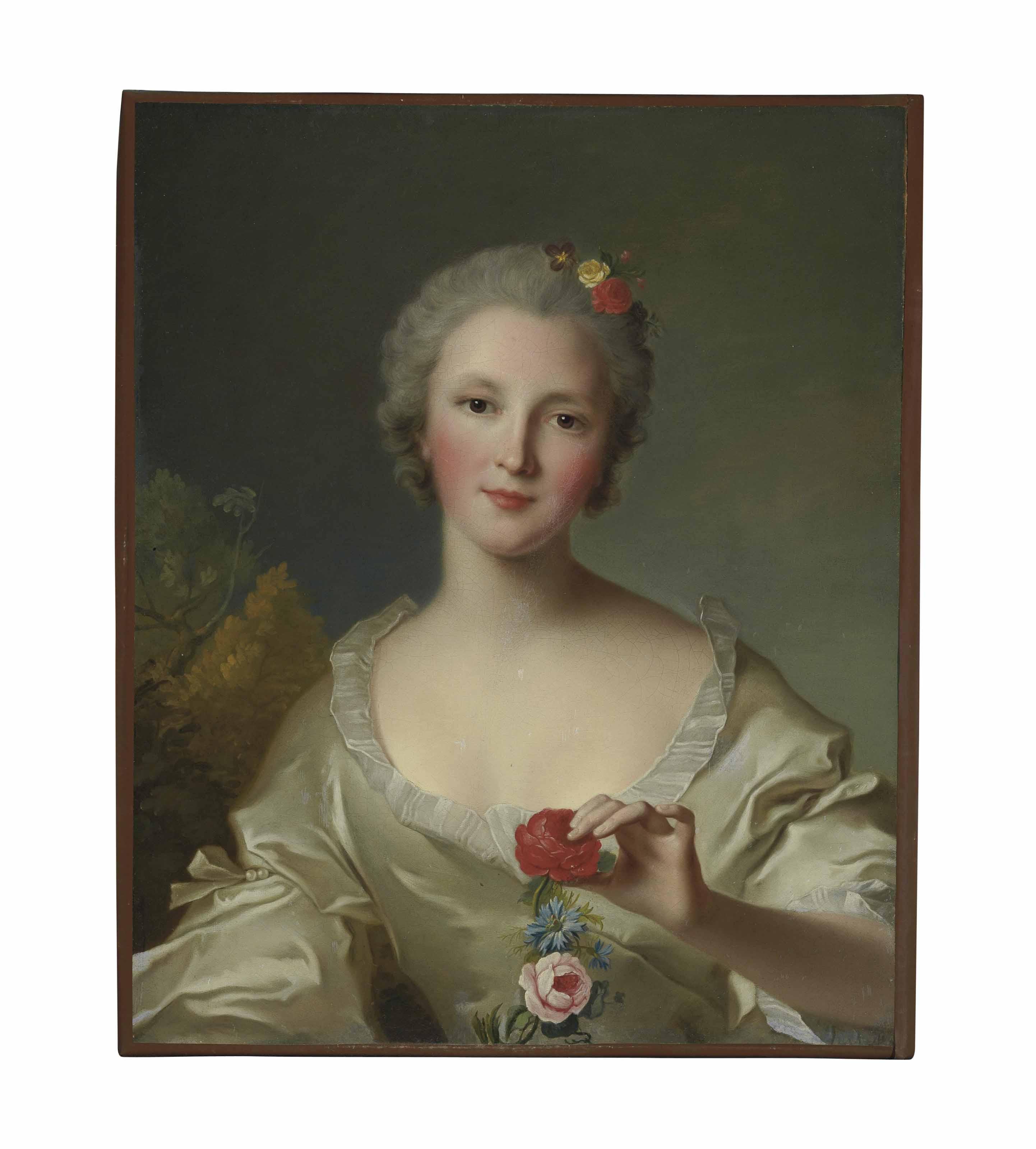 Portrait of Marguerite-Françoise-Bernard de Reims, Madame Dupleix de Bacquencourt, bust-length