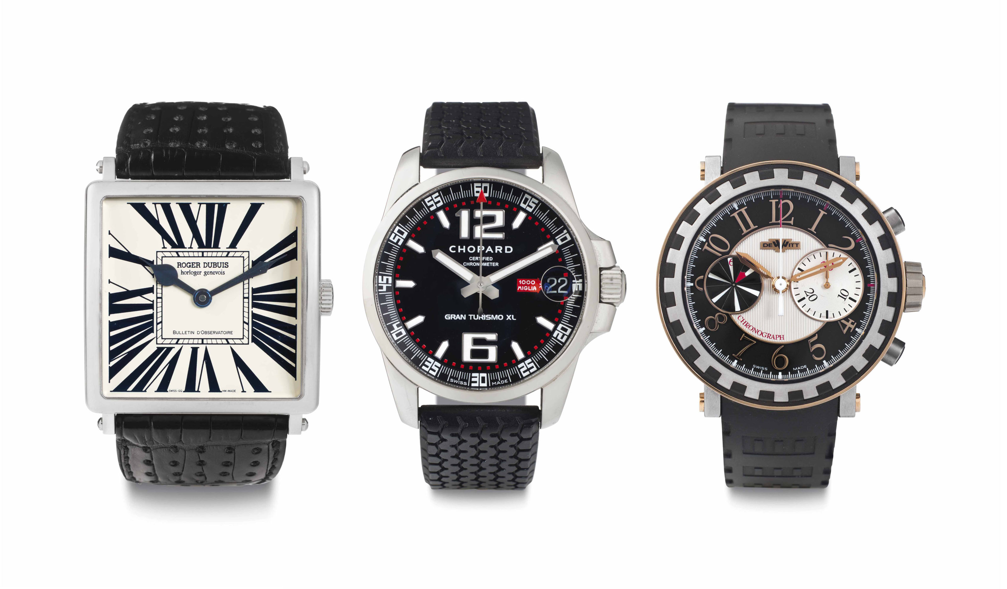 A Lot of Three Automatic Wristwatches