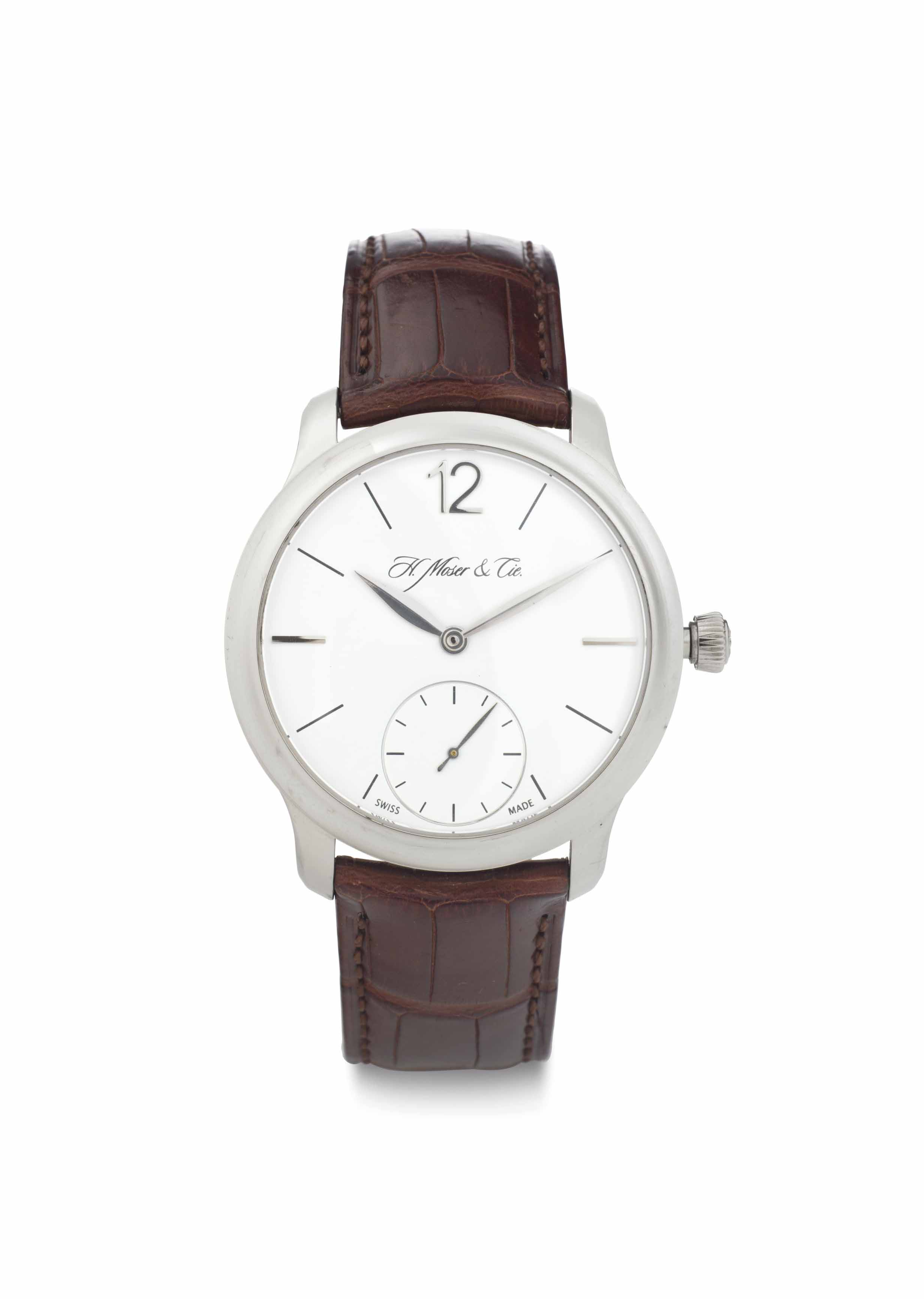 H. Moser & Cie. An 18k White Gold Wristwatch with Power Reserve