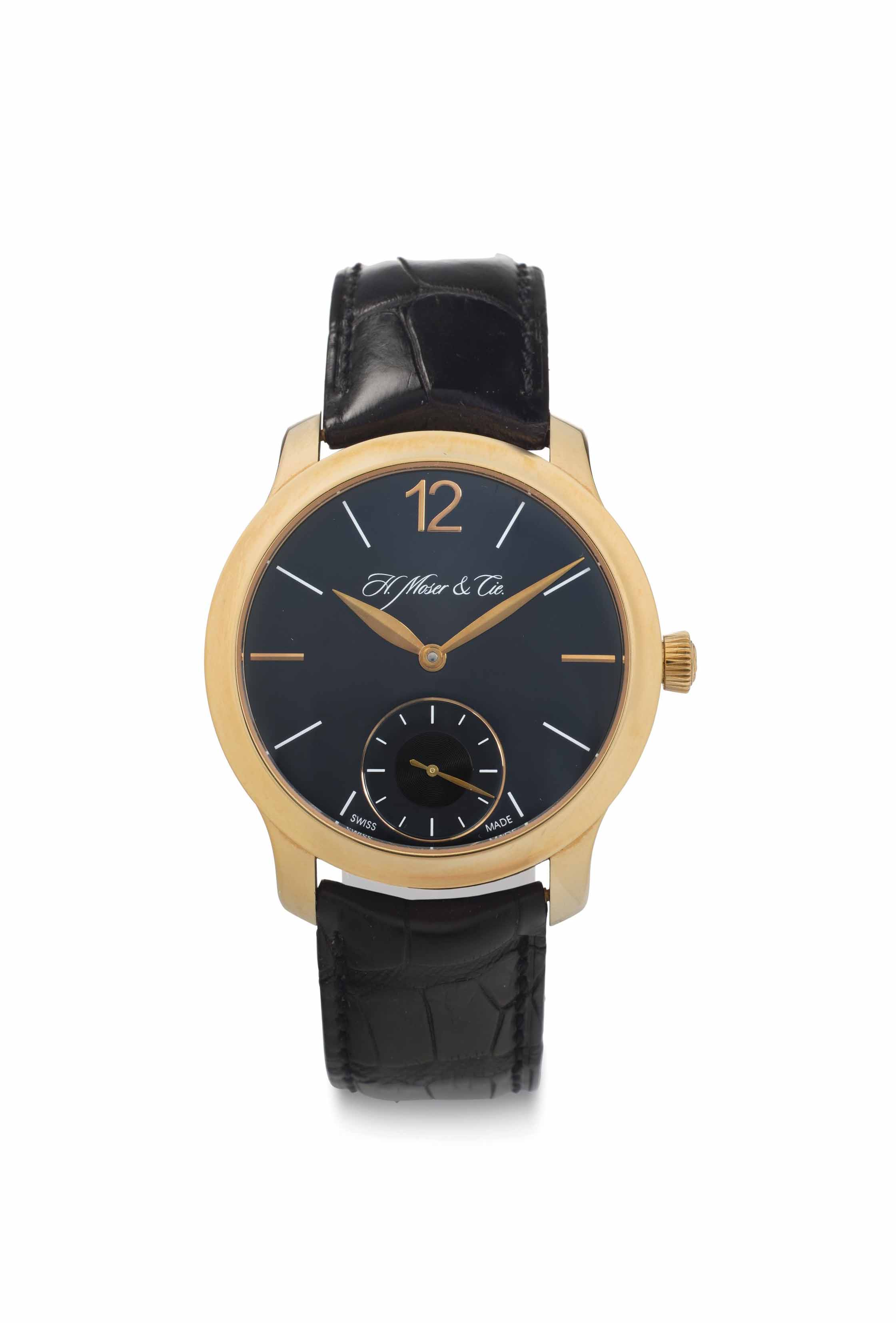 H. Moser & Cie. An 18k Pink Gold Wristwatch with Power Reserve