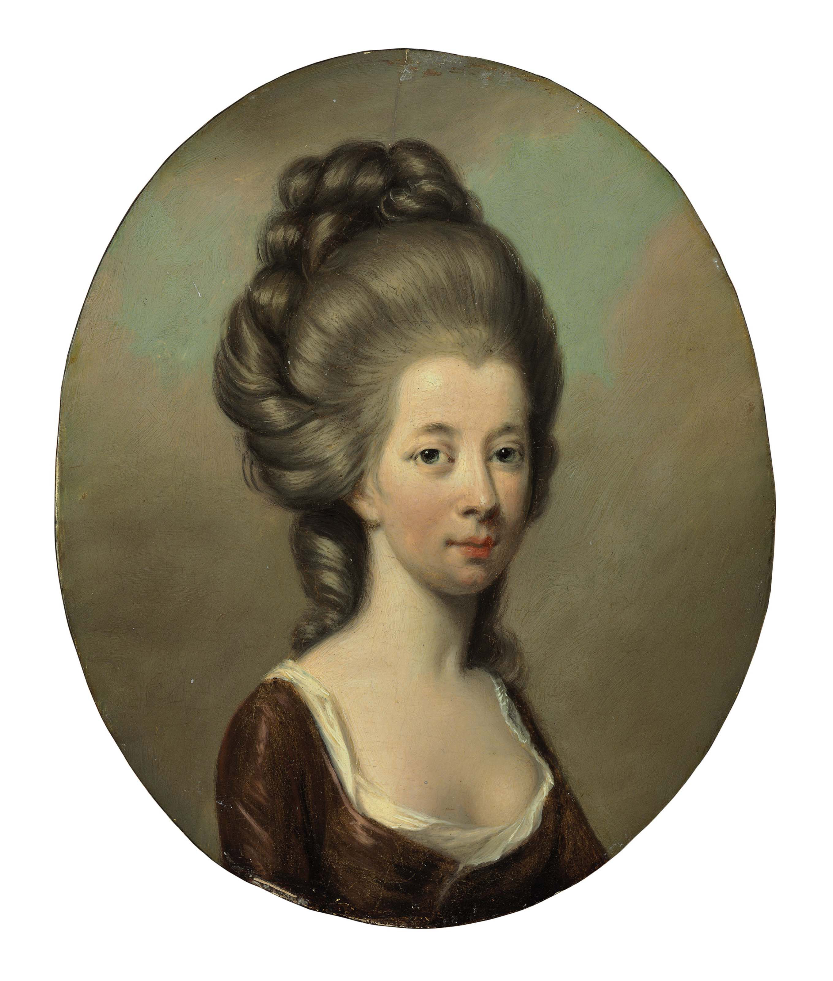 Portrait of Emilia Olivia St. George, the Duchess of Leinster, bust- length
