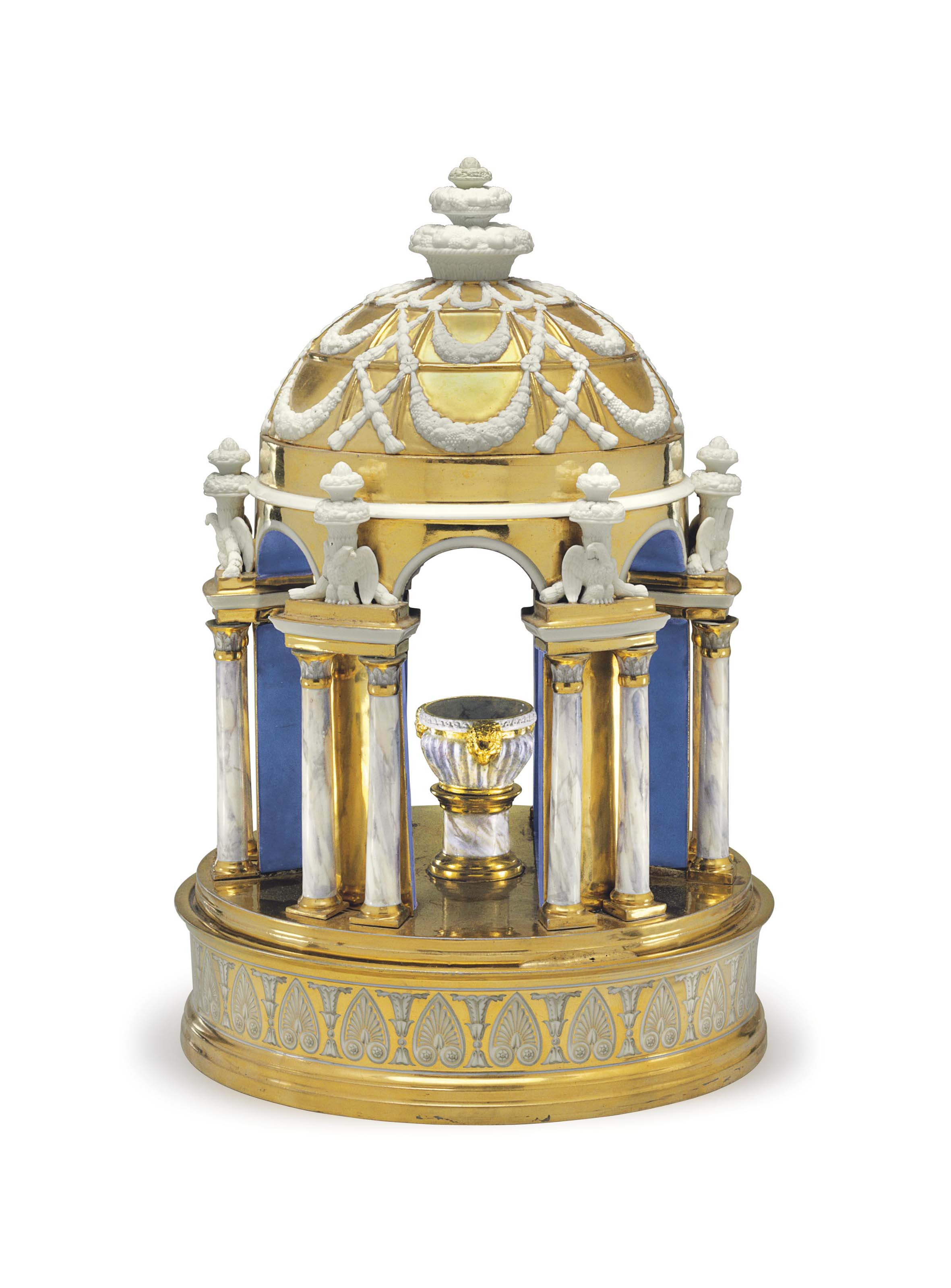 A PARIS (DARTE FRERES) PORCELAIN CIRCULAR TEMPLE