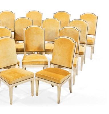 Suite de quatorze chaises de salle a manger de style louis xvi estampille de leys a paris - Chaises de salle u00e0 manger de style ...