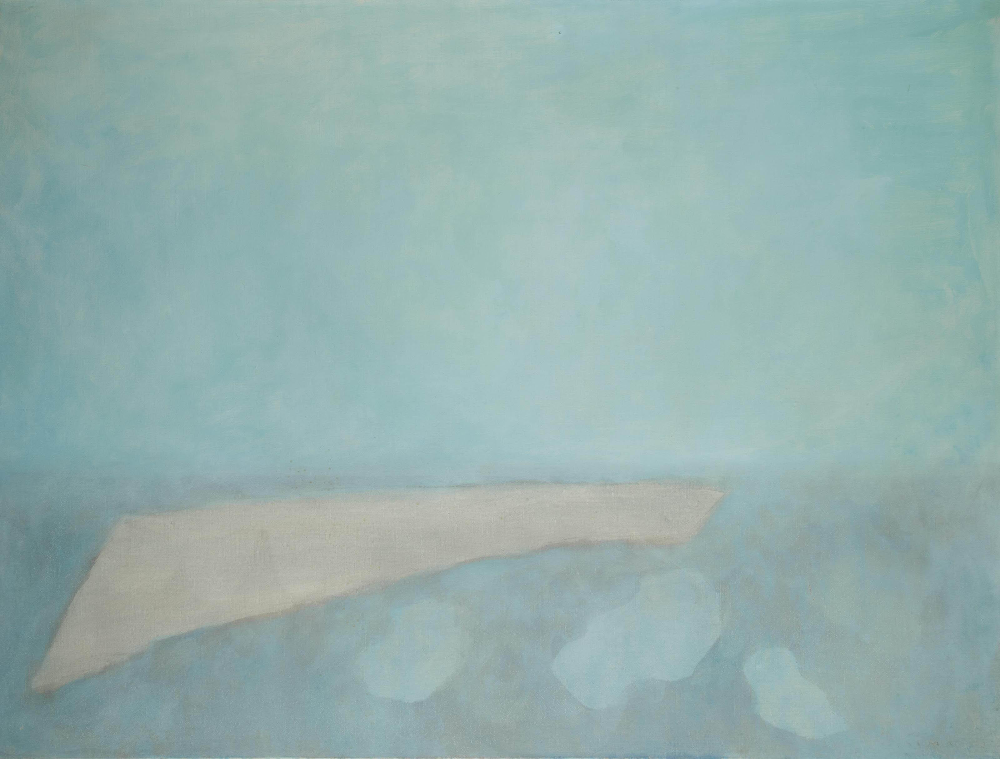 Paysage bleu gris horizontal