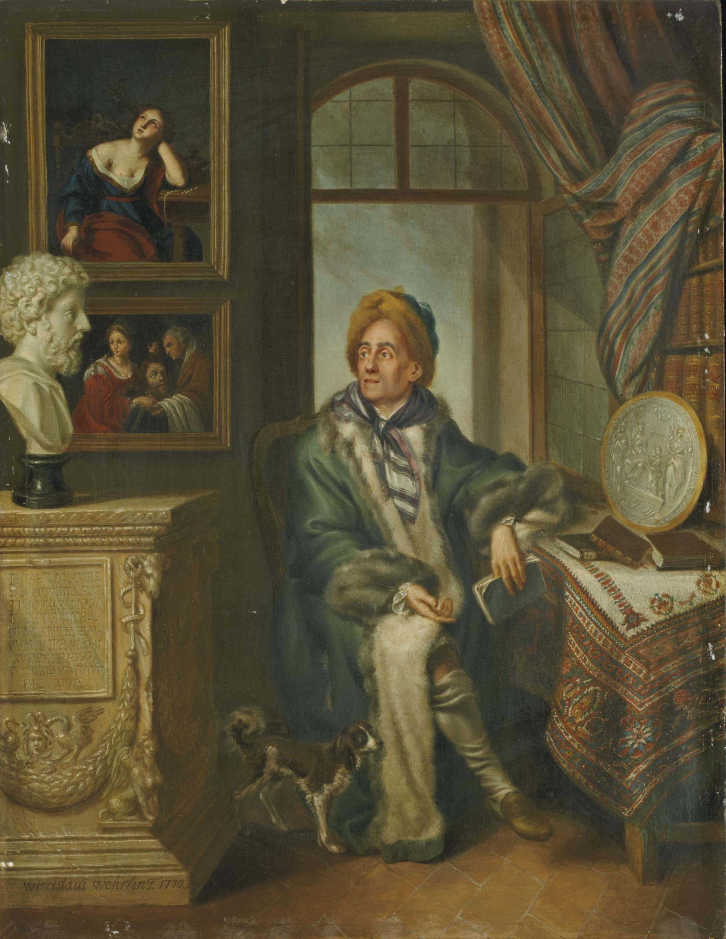 Portrait d'un collectionneur