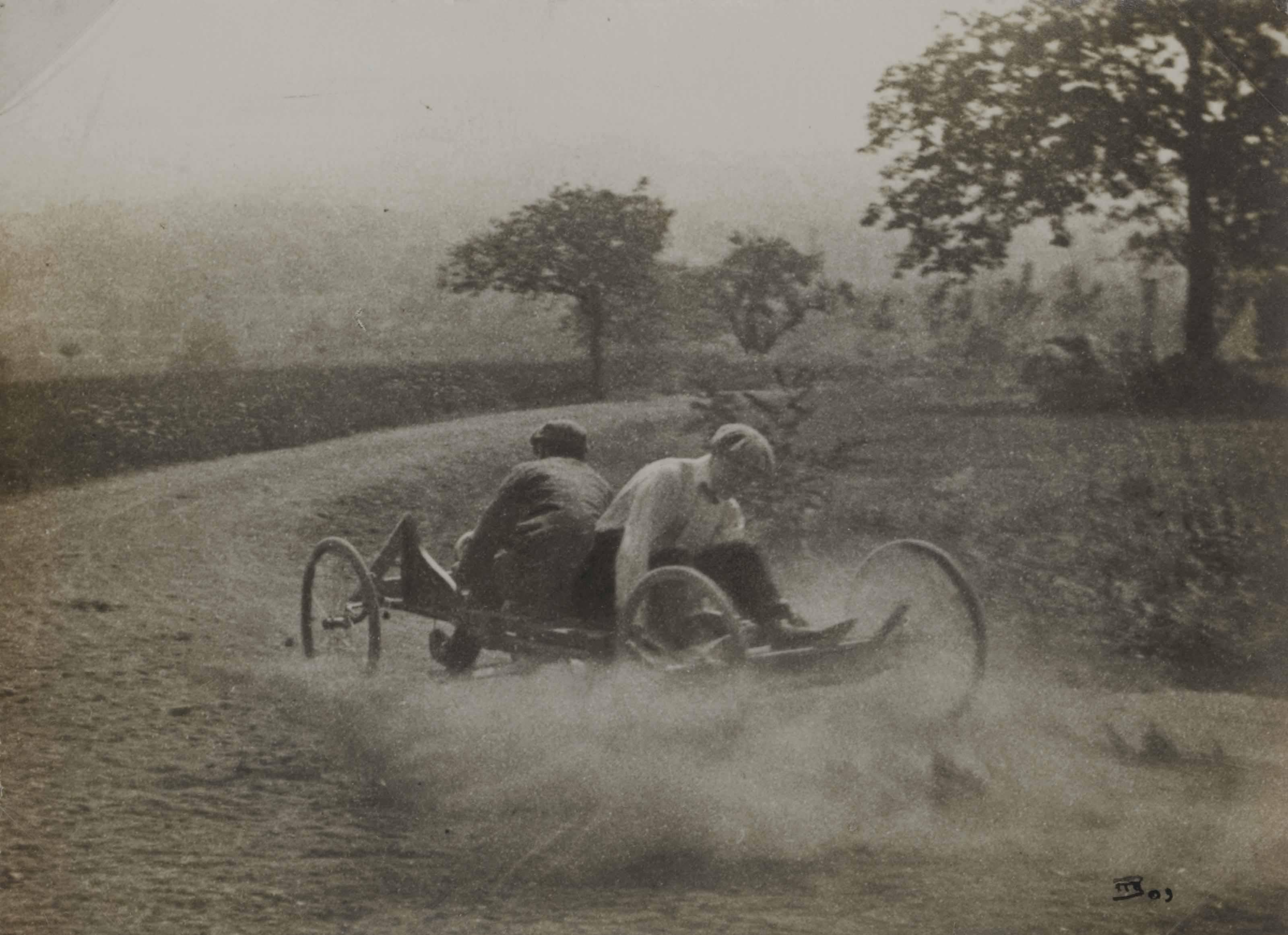 Go-cart run, Rouzat, été 1910