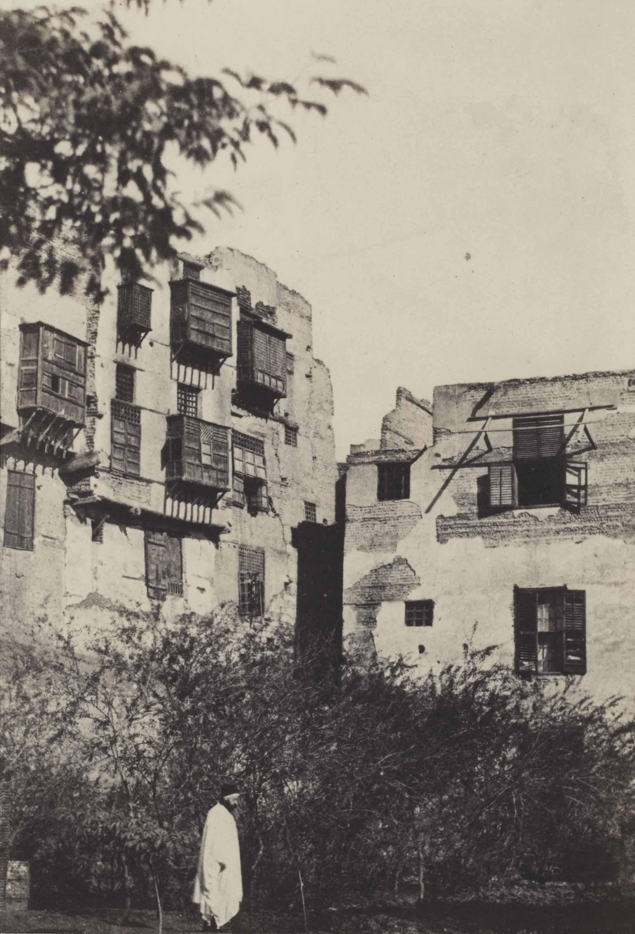 Gustave Flaubert, Le Caire, Maison et jardin dans le quartier Frank, 1850