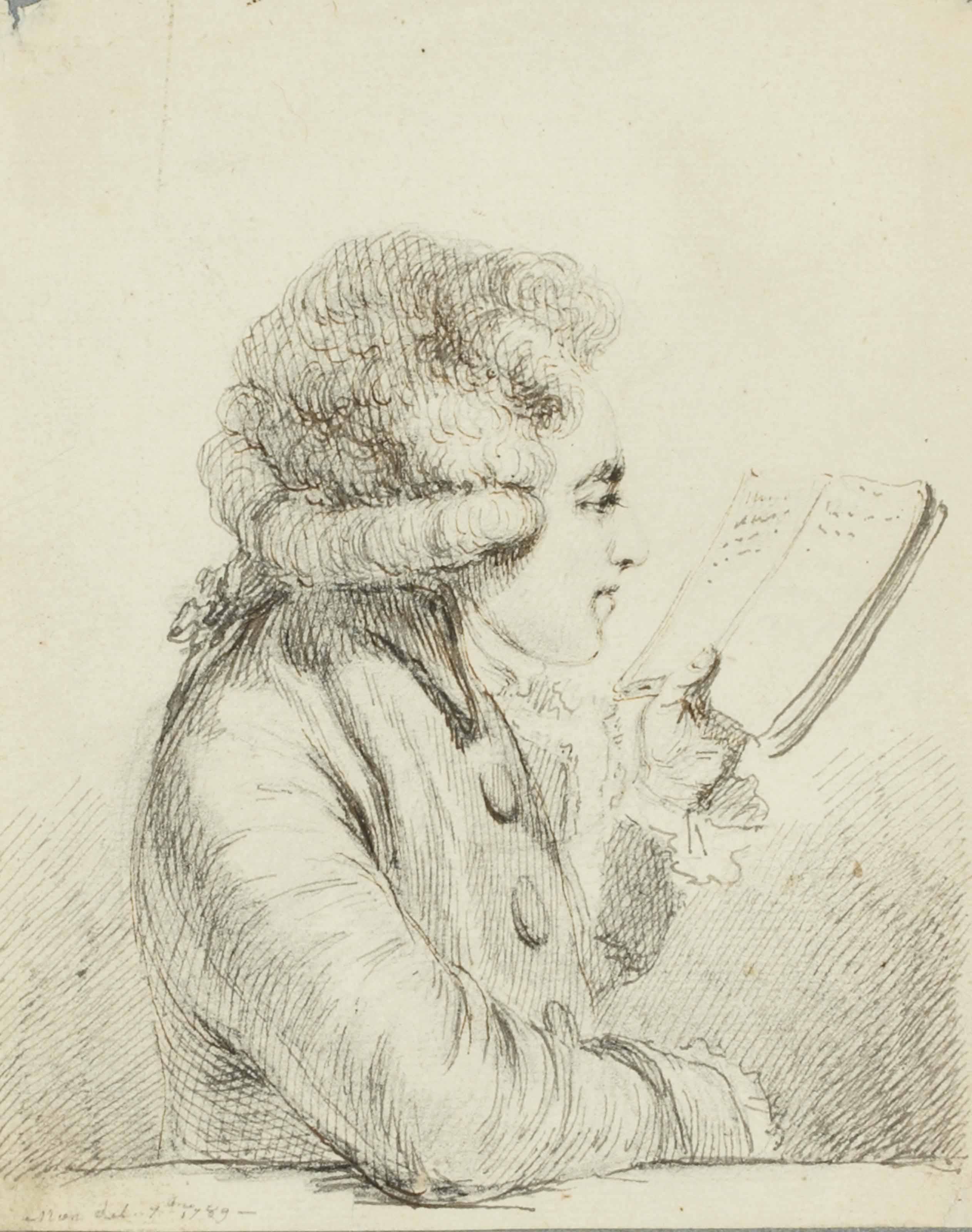 Portrait d'homme lisant; et Portrait présumé de Lady Hamilton agenouillée et priant
