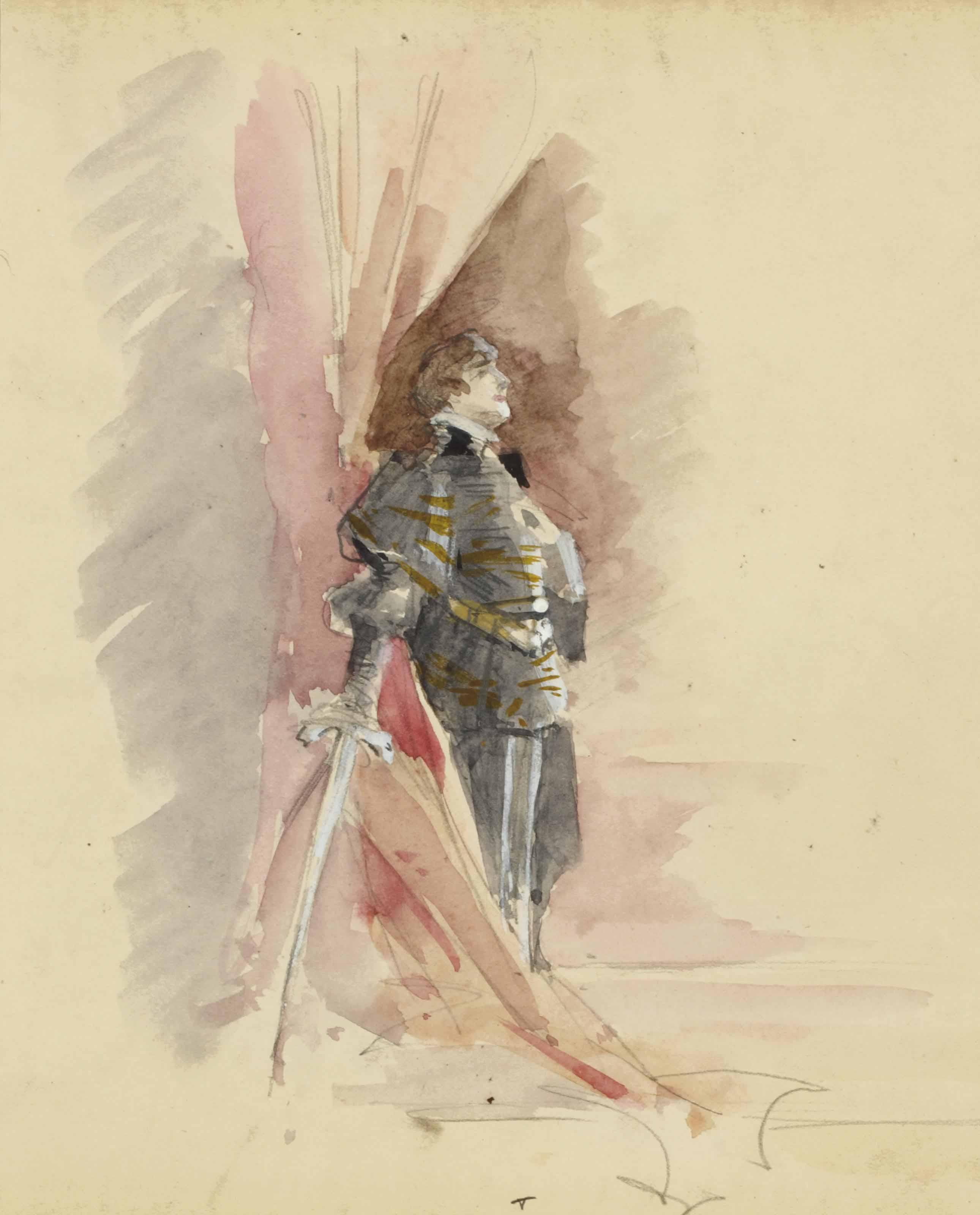 Sarah Bernhardt dans Hamlet