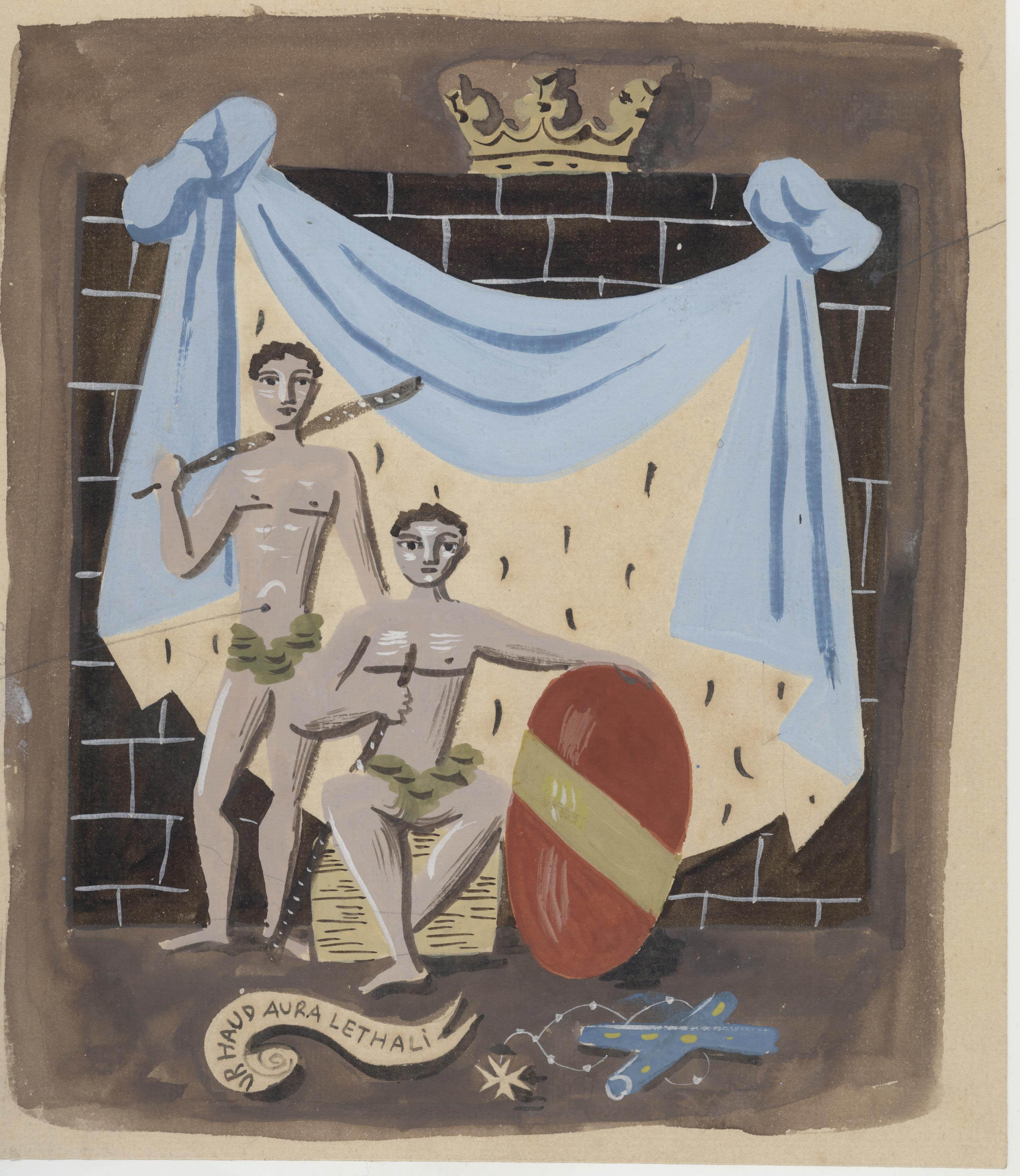 Projet pour un carton de tapisserie destinée à un devant de pare-feu pour le Vicomte de Noailles