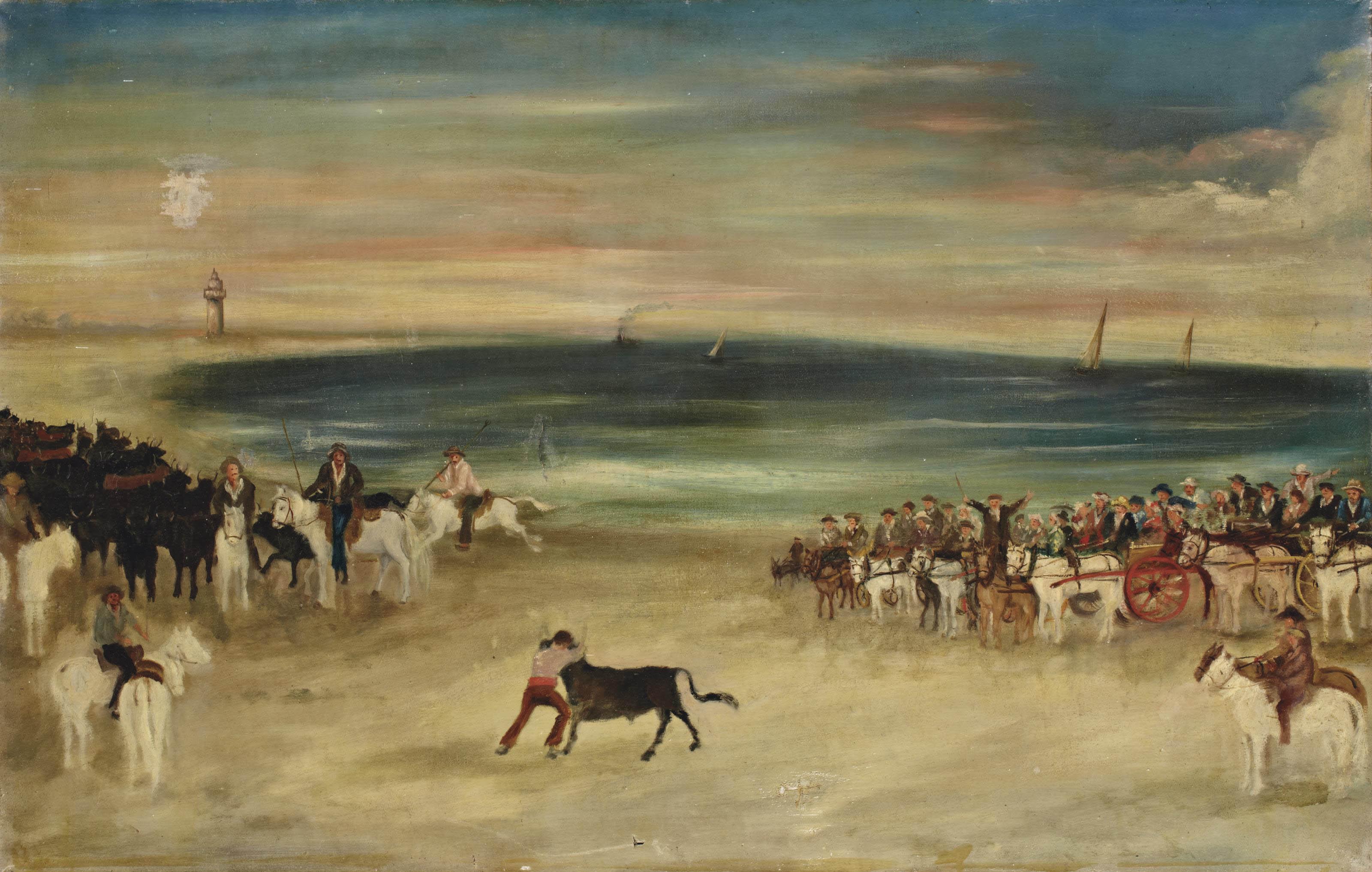 Bouvine sur la plage (paire)