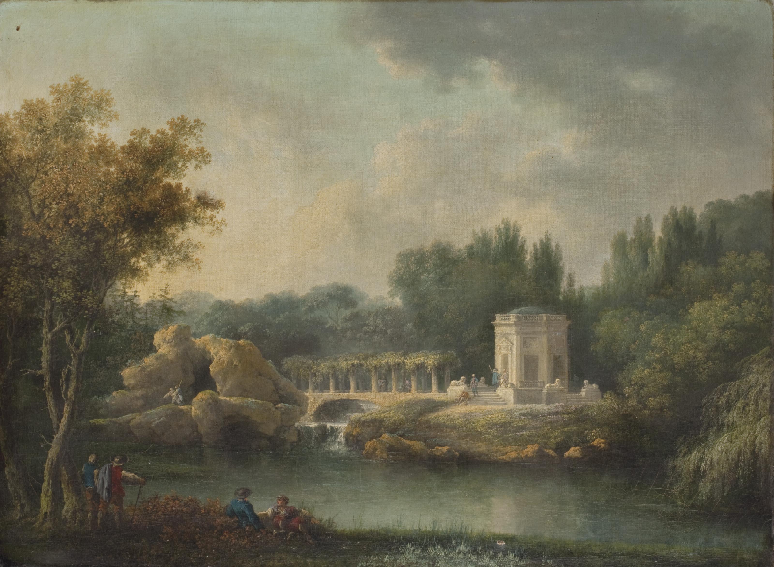 Le Rocher et le Belvédère à Versailles en 1786