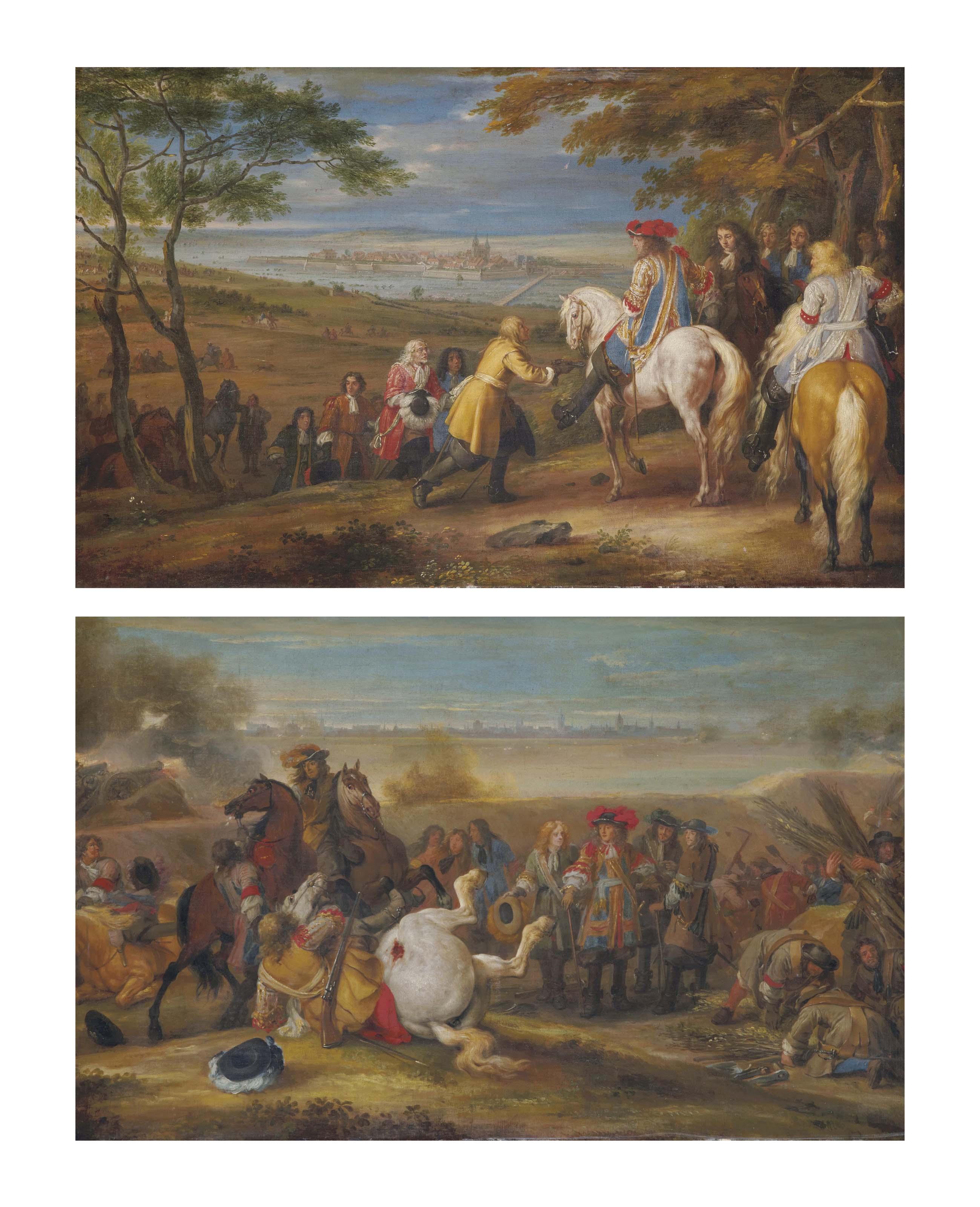 Les clés de Marsal remises à Louis XIV, le 1er septembre 1663; et Le Siège de Douai en juillet 1667