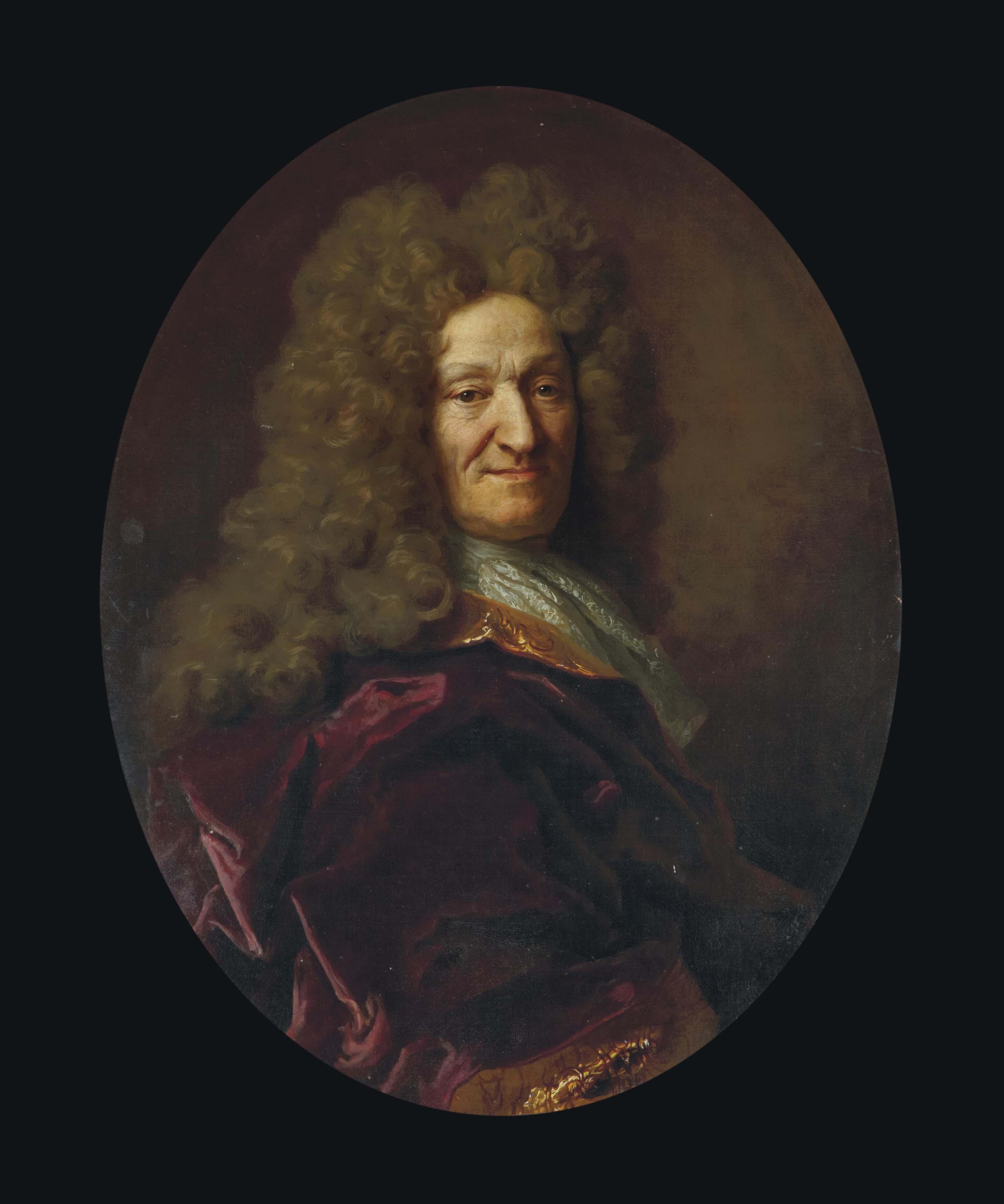 Portrait de Jean de La Fontaine, âgé de 73 ans